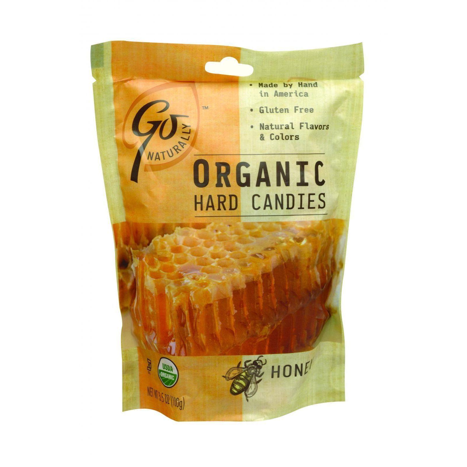 Go Organic Hard Candy - Honey - 3.5 oz - Case of 6