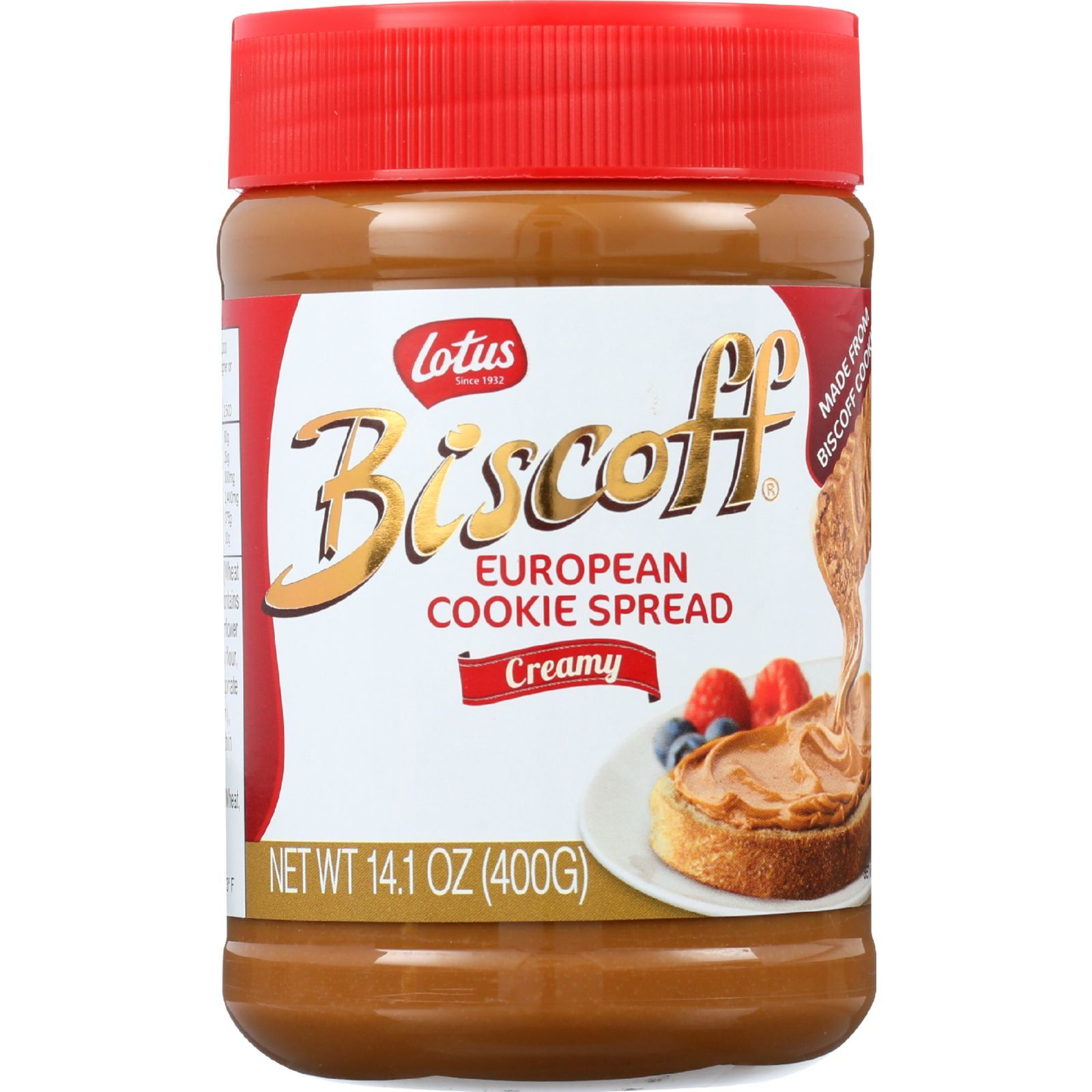 Biscoff Cookie Butter Spread - Peanut Butter Alternative - 13.4 oz - case of 8