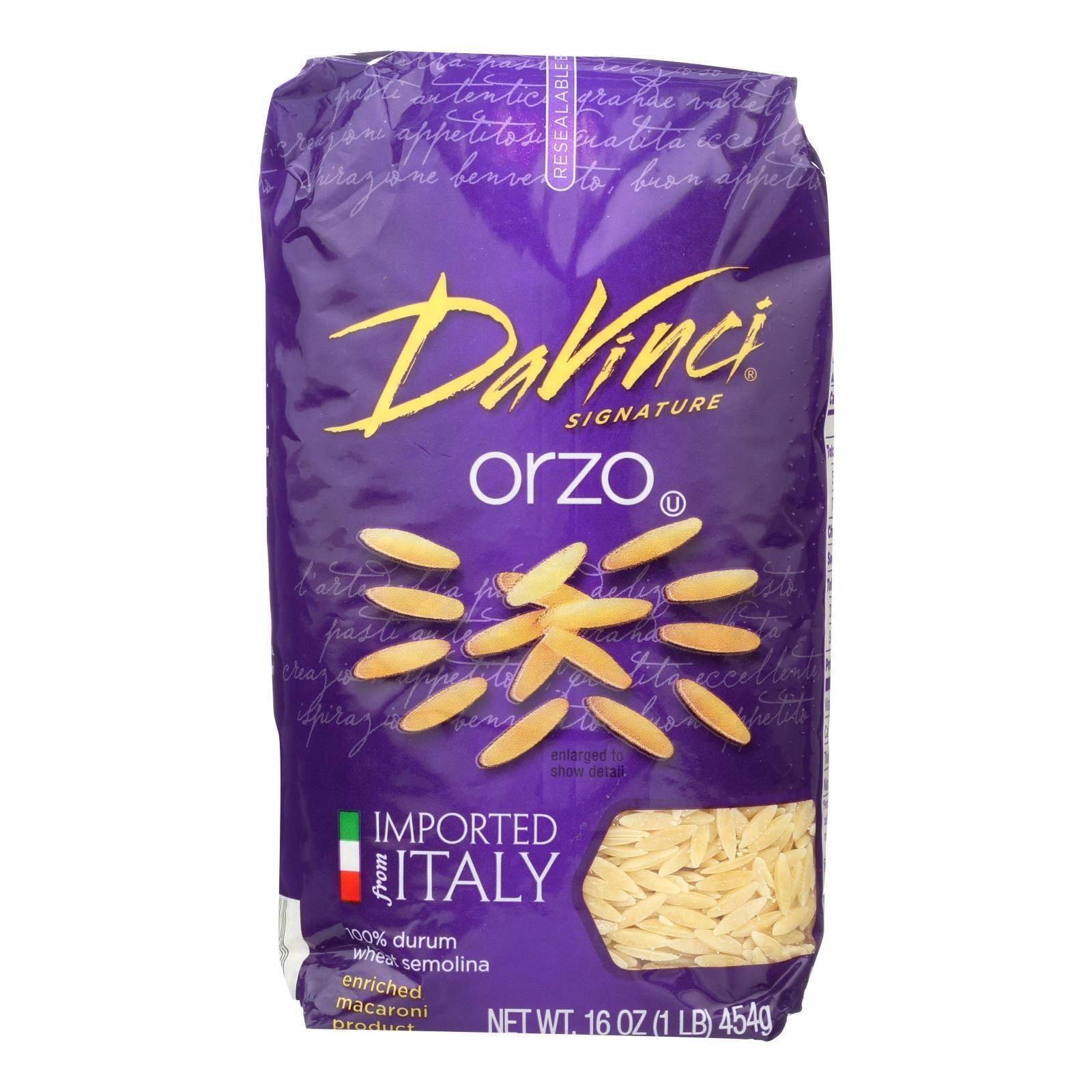 DaVinci Orzo Pasta - Case of 12 - 1 lb.