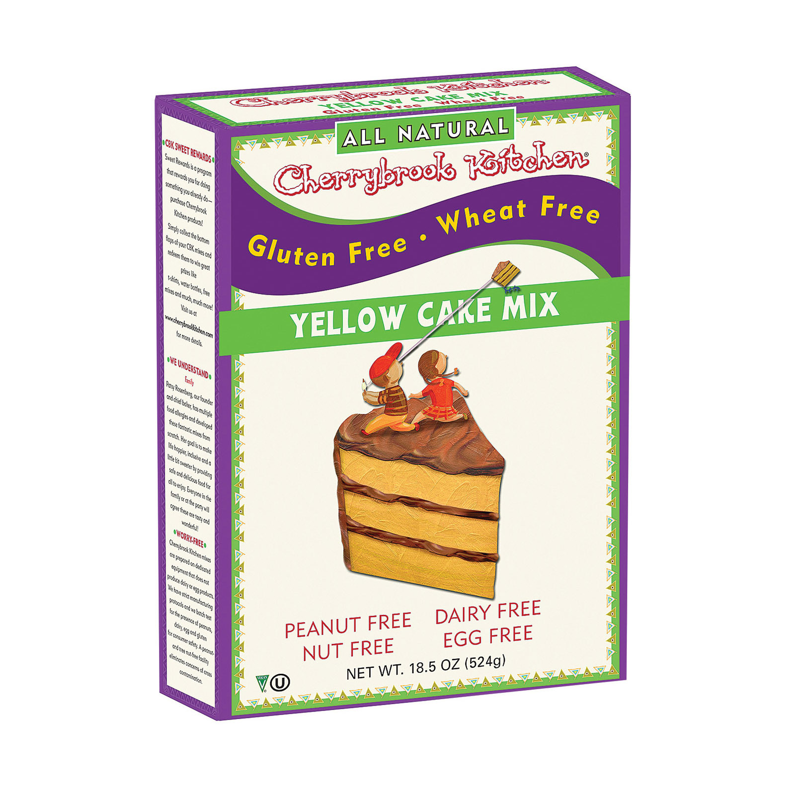Cherrybrook Kitchen Gluten & Wheat Free Yellow Cake Mix - Case of 6 - 16 oz