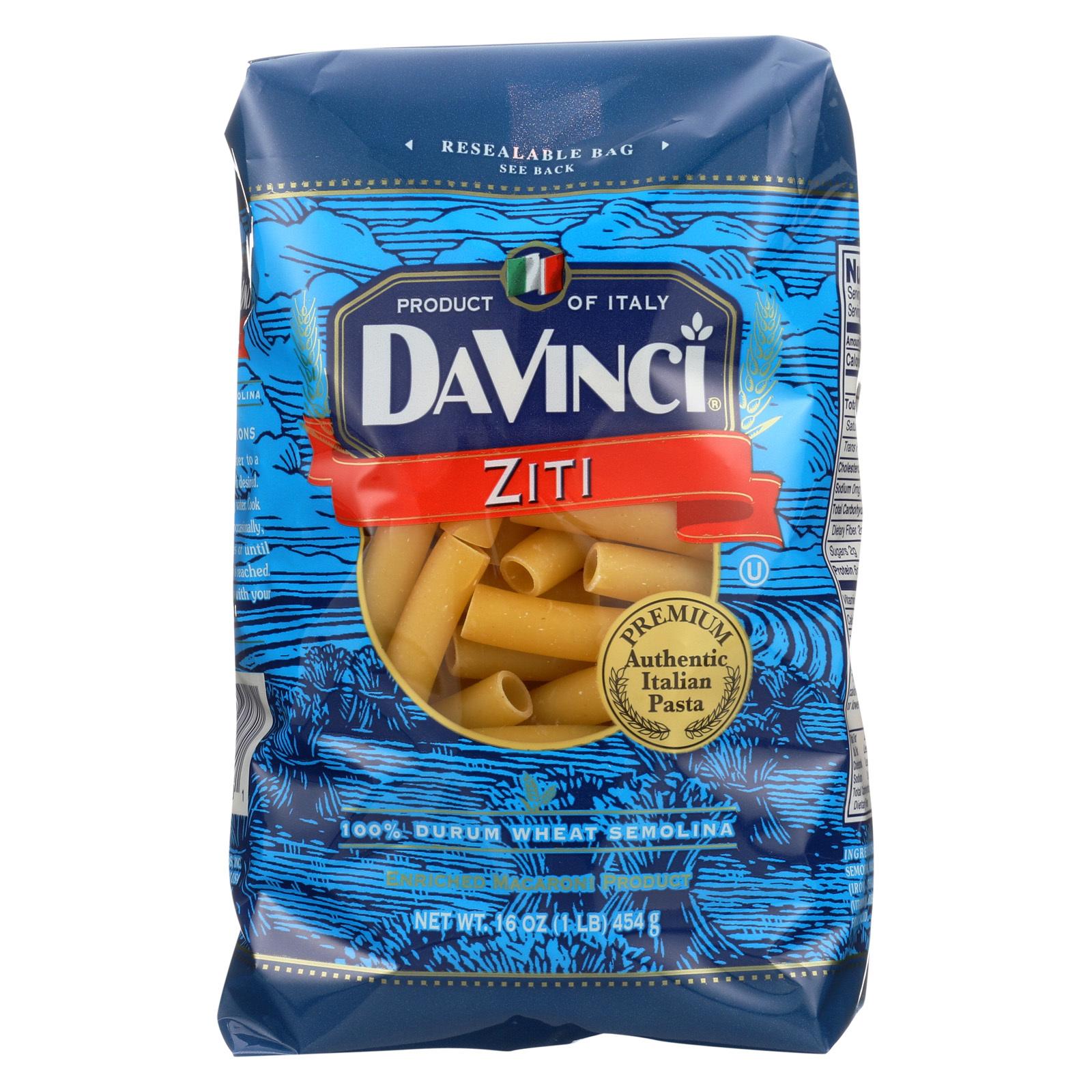 DaVinci Cut Ziti Pasta - Case of 12 - 1 lb.