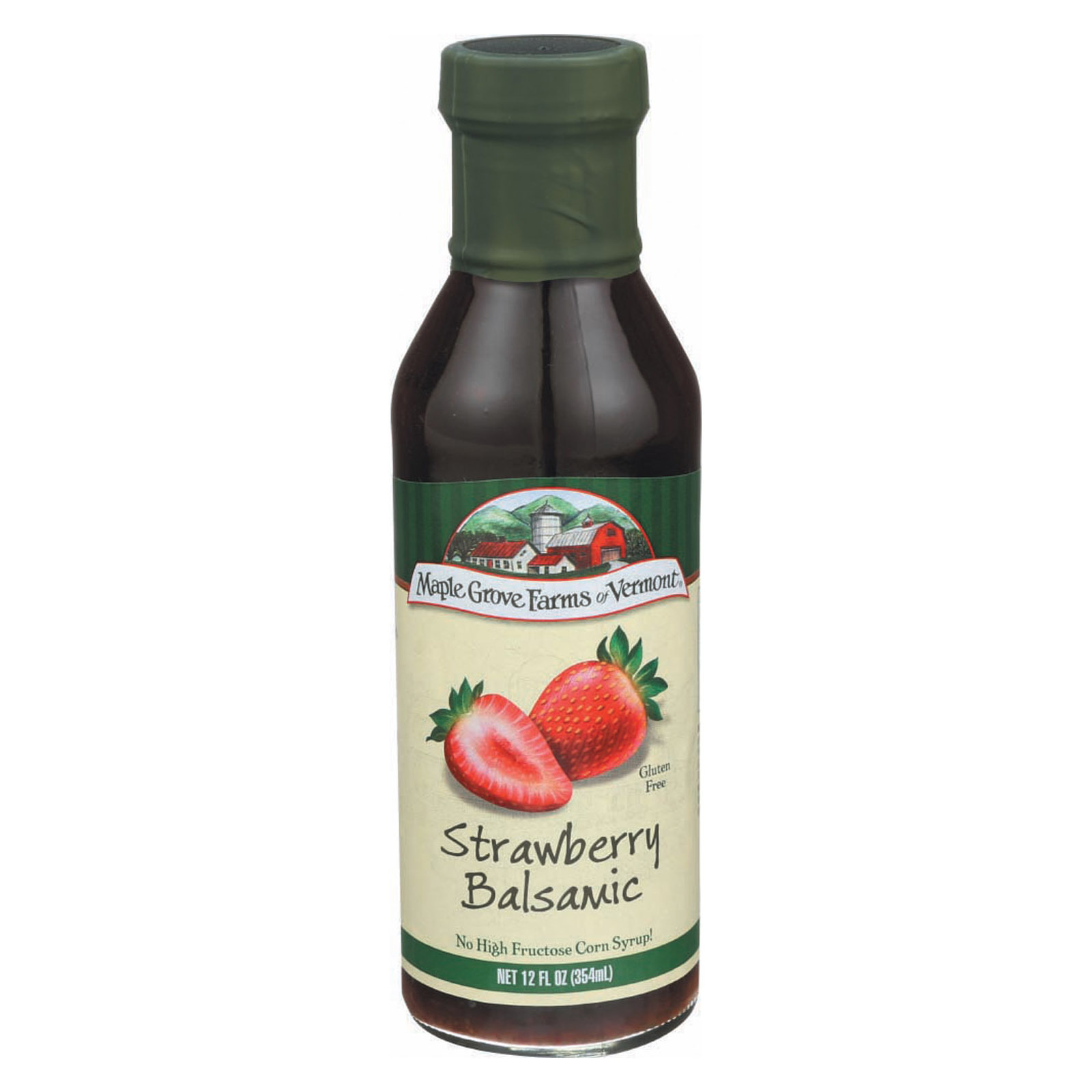 Maple Grove Farms Strawberry Balsamic Dressing - Case of 6 - 12 Fl oz.
