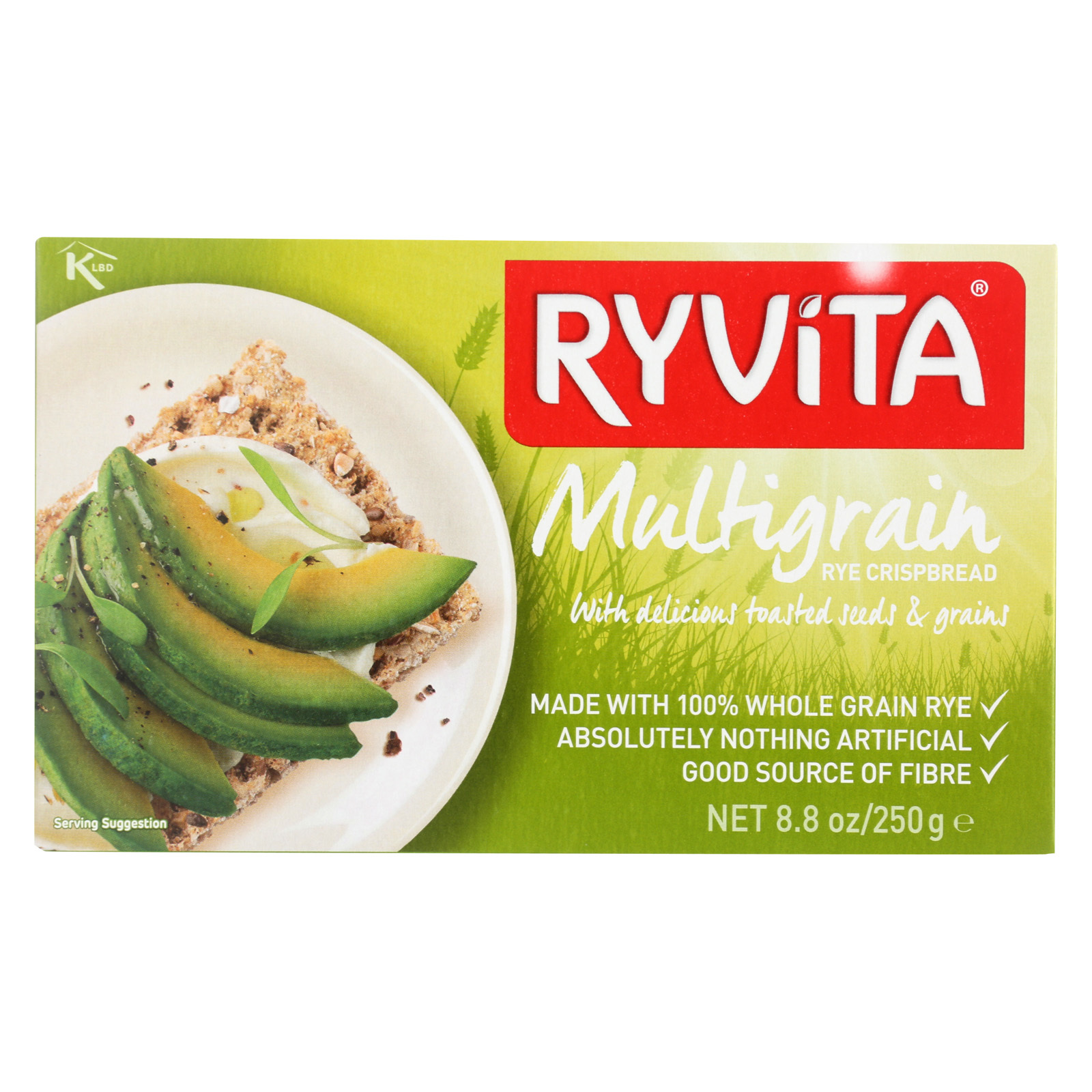 Ryvita Crisp Bread Crispbread - Multigrain - Case of 10 - 8.8 oz.