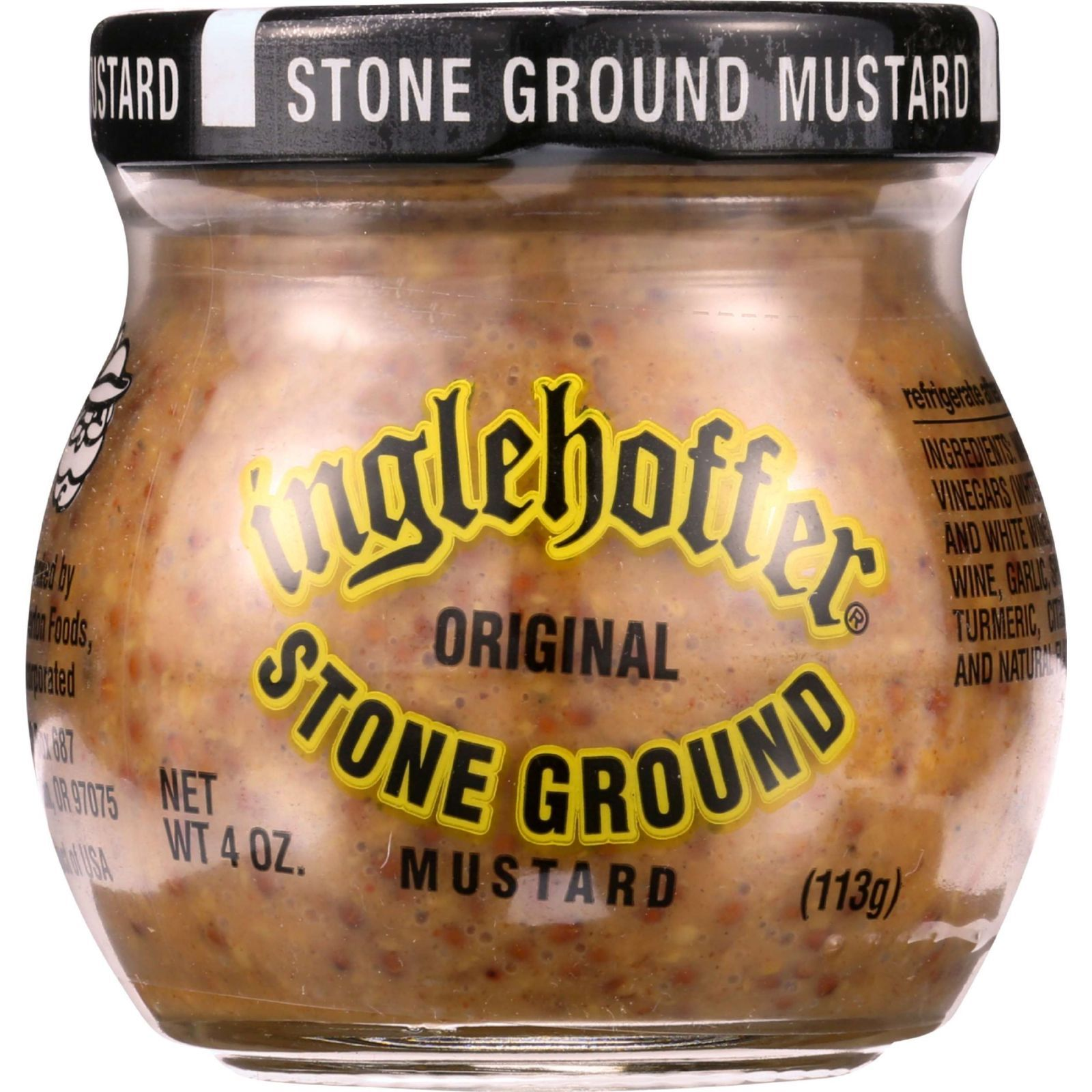 Inglehoffer Mustard - Stone Ground - 4 oz - case of 12