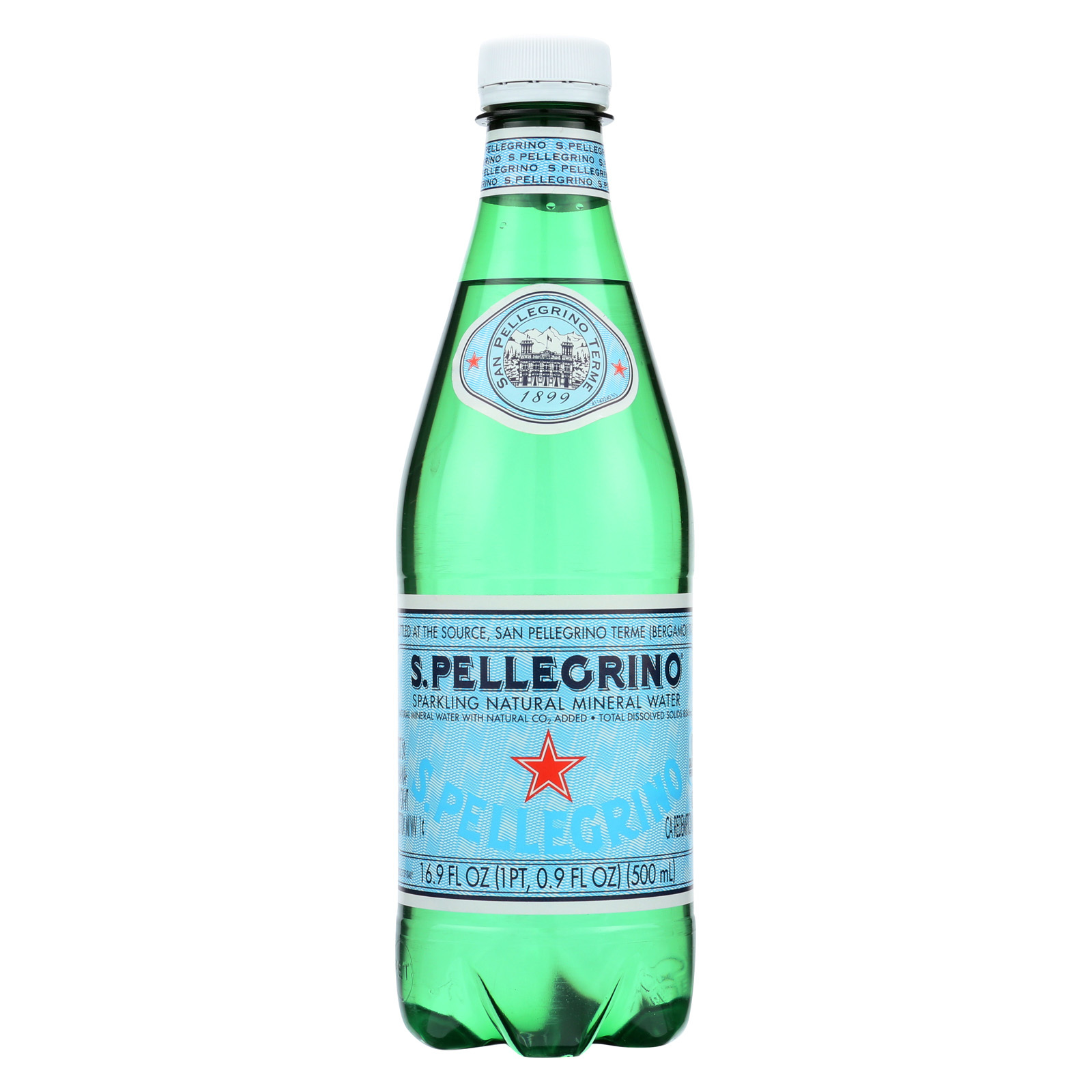 San Pellegrino Sparkling Mineral Water - Natural - Case of 24 - 0.5 Liter