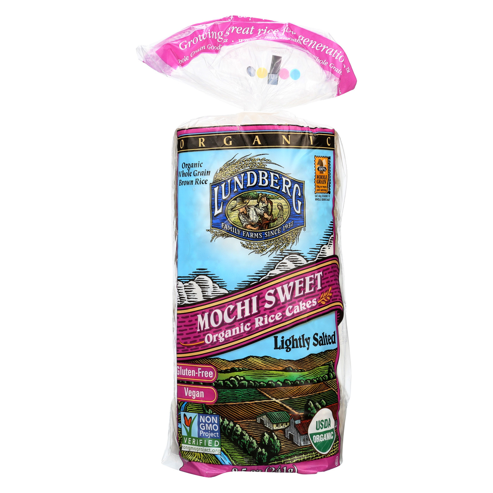 Lundberg Family Farms Organic Mochi Sweet Rice Cake - Case of 12 - 8.5 oz.