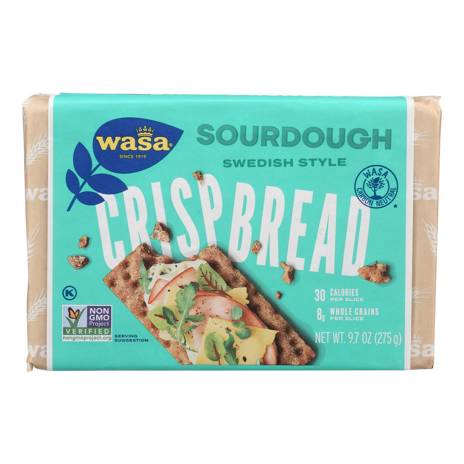 Wasa Crispbread Rye Crispbread - Sourdough - Case of 12 - 9.7 oz.