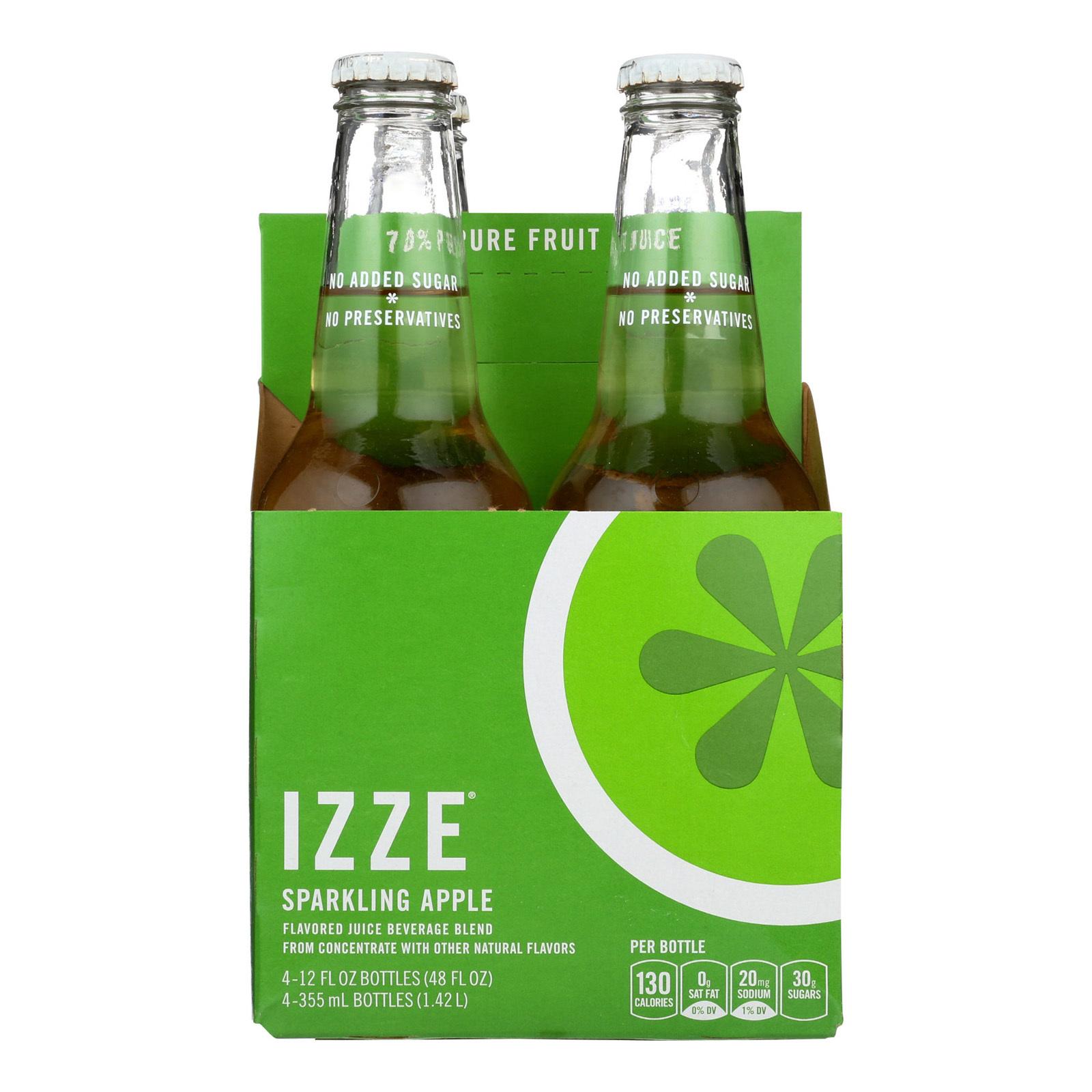 Izze Sparkling Juice - Apple - Case of 6 - 12 Fl oz.