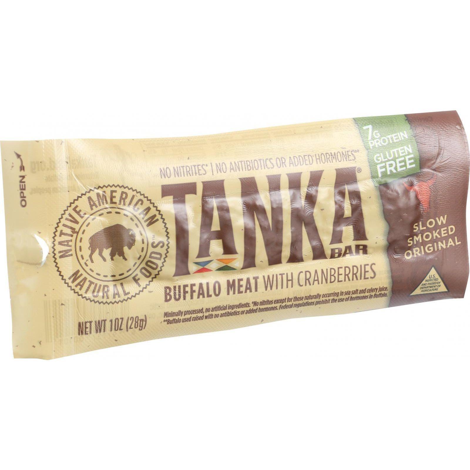 Tanka Bar - Buffalo with Cranberry - 1 oz - Case of 12