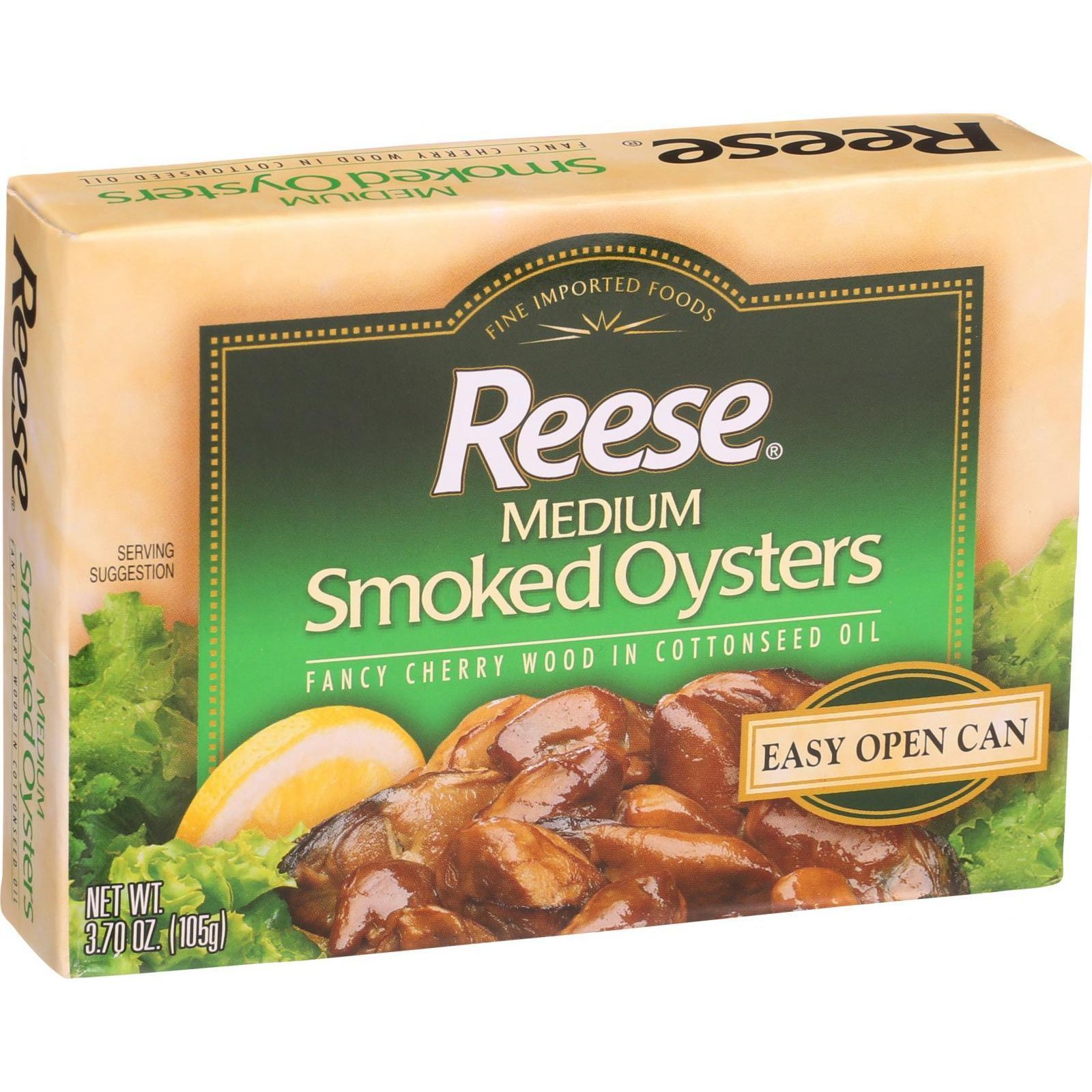 Reese Oysters - Smoked - Medium - 3.7 oz - Case of 10