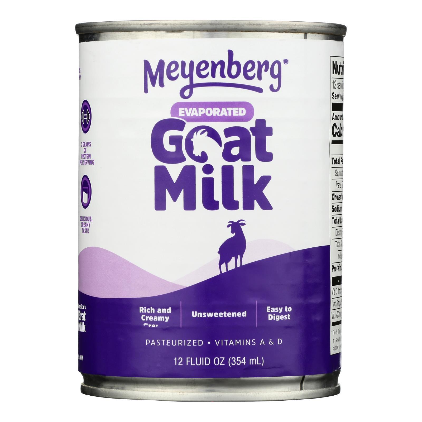 Meyenberg Evaporated Goat Milk - Case of 12 - 12 Fl oz.