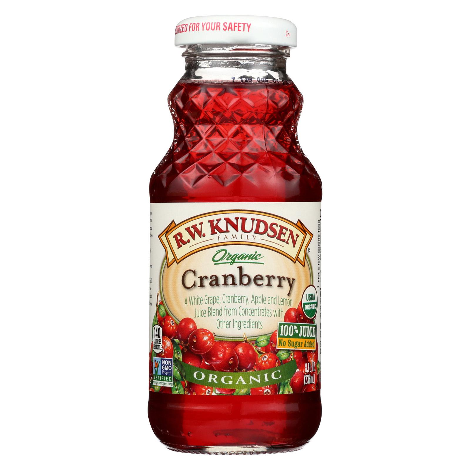 R.W. Knudsen Organic Cranberry Juice - Case of 24 - 8 fl oz