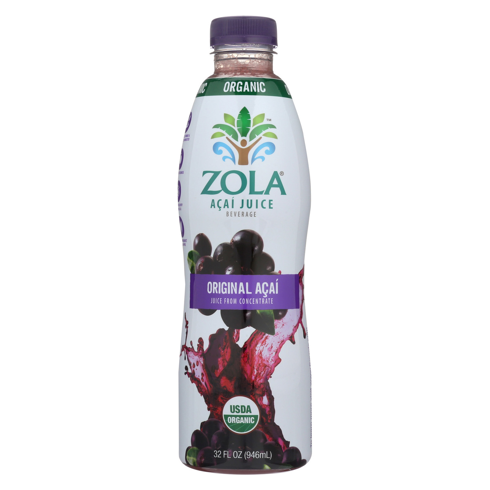 Zola Acai Juice - Antioxidant and Energy - Case of 8 - 32 Fl oz.