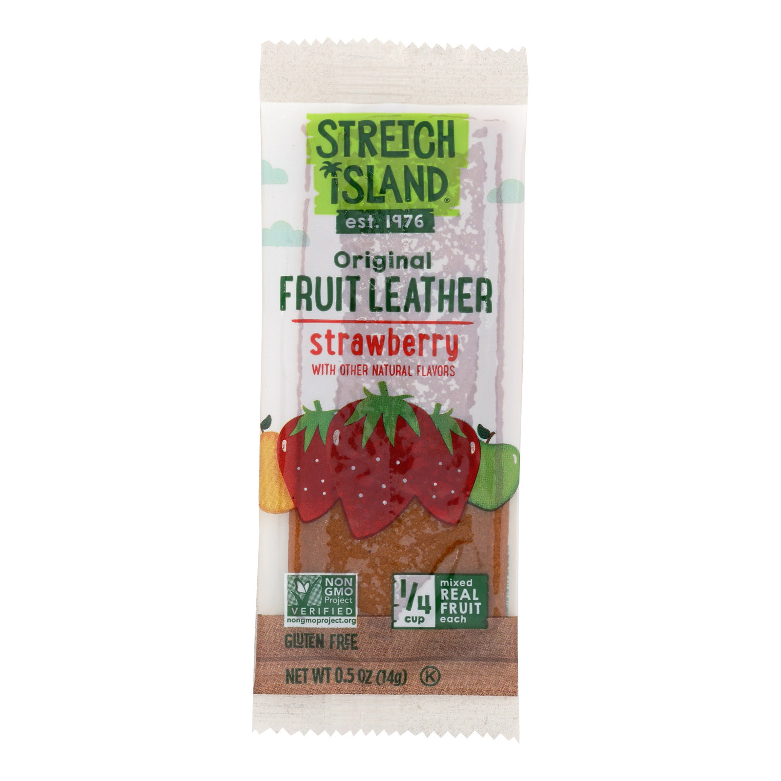 Stretch Island Fruit Leather Strip - Summer Strawberry - .5 oz - Case of 30