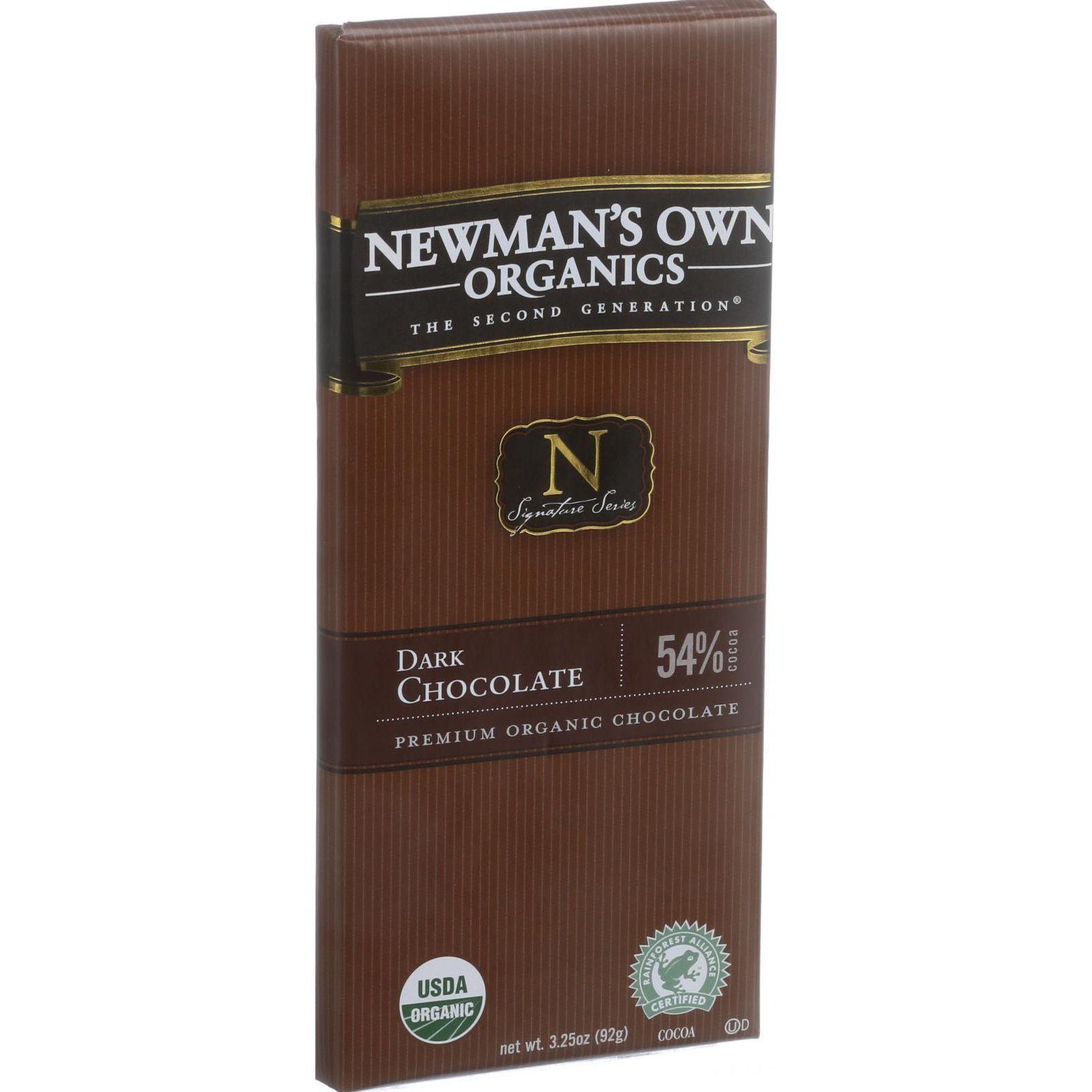 Newman's Own Organics Chocolate Bar - Organic - Dark Chocolate - 3.25 oz Bars - Case of 12