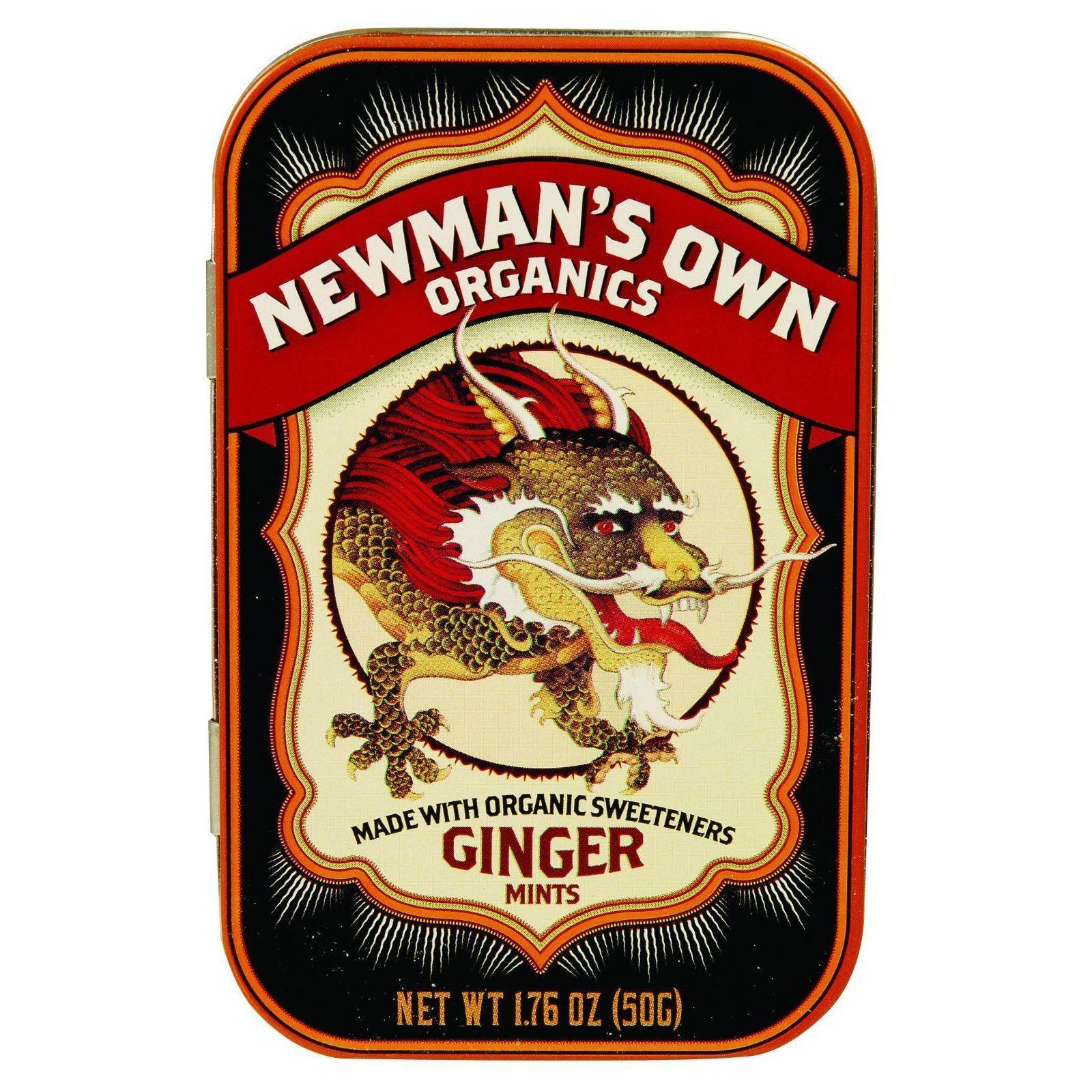 Newman's Own Organics Mints - Organic - Ginger - 1.65 oz - Case of 6