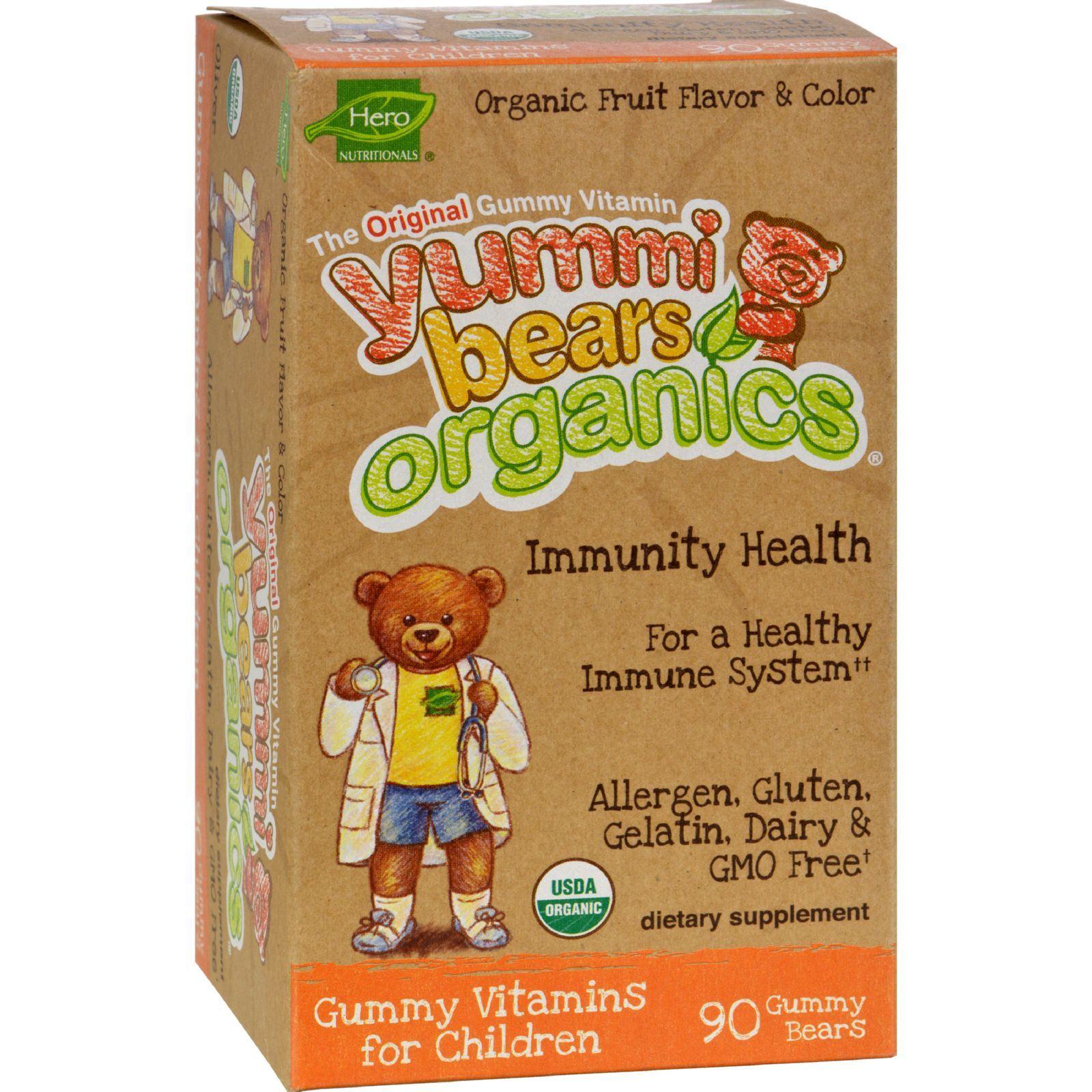Hero Nutritional Products Organic Yummi Bears Immunity Shield - 90 Count