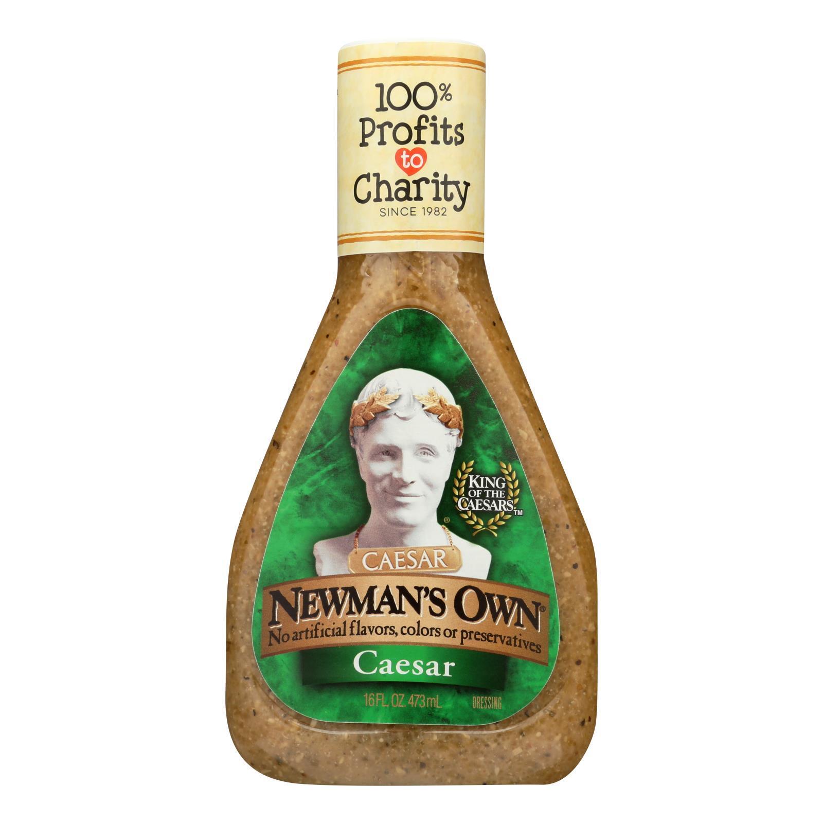 Newman's Own Lite Dressing - Caesar - Case of 6 - 16 Fl oz.