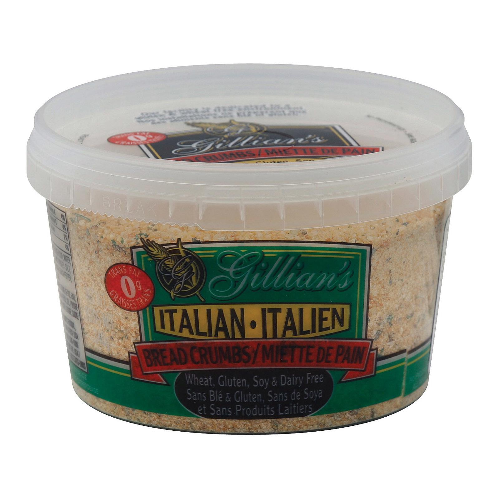 Gillian's Food Bread Crumbs - Italian Style - Case of 12 - 12 oz.