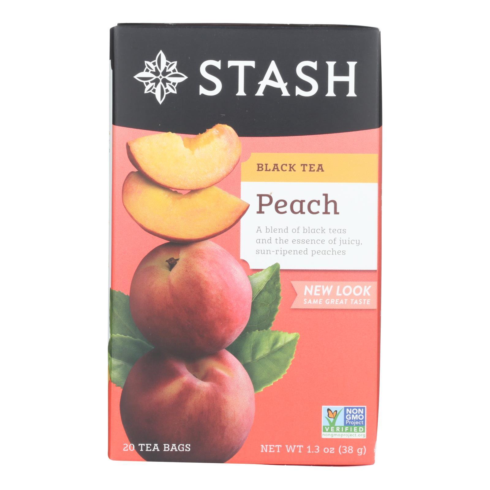 Stash Tea Tea - Black Peach - Case of 6 - 20 count