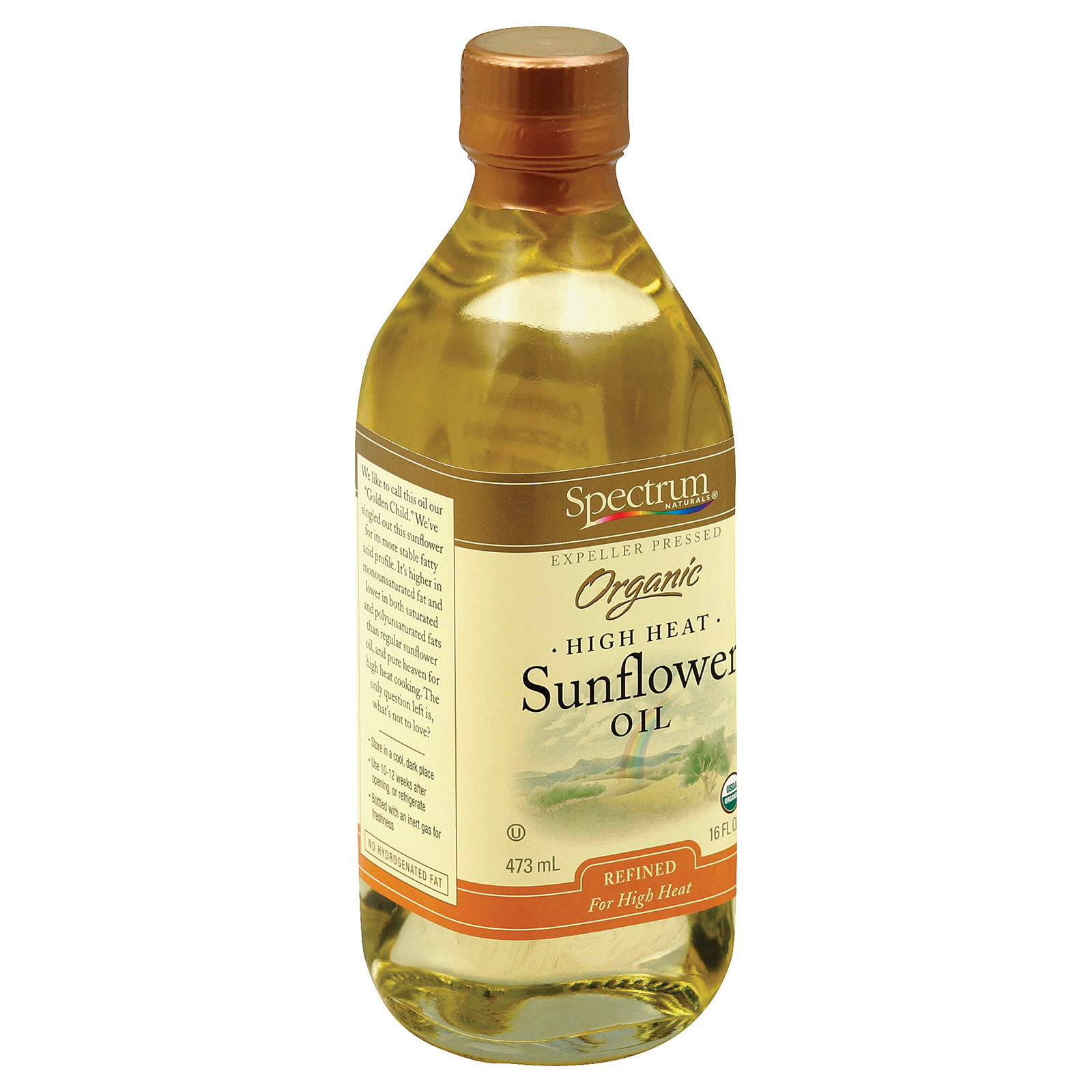 Spectrum Naturals High Heat Refined Organic Sunflower Oil - 16 Fl oz.