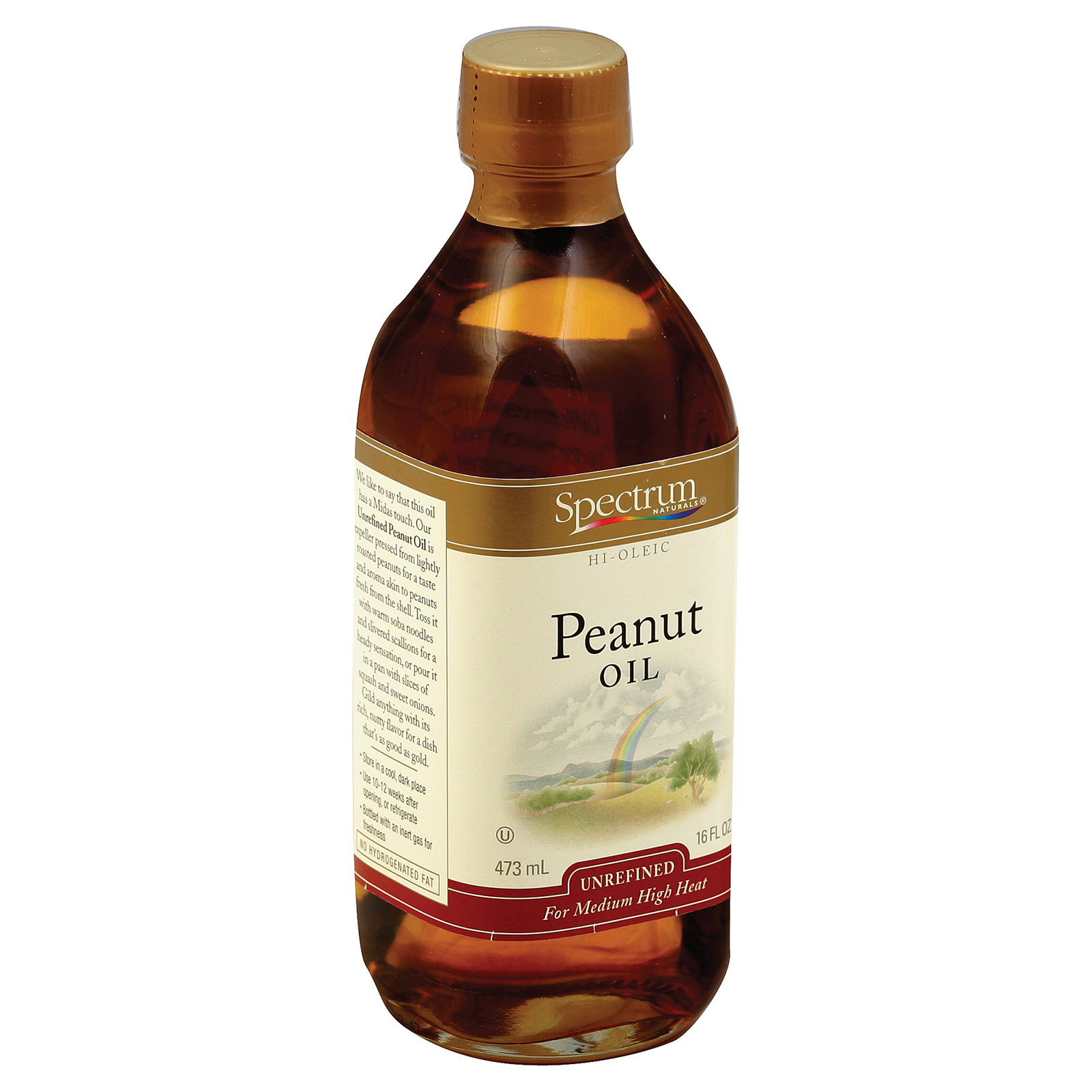 Spectrum Naturals Unrefined Peanut Oil - 16 Fl oz.