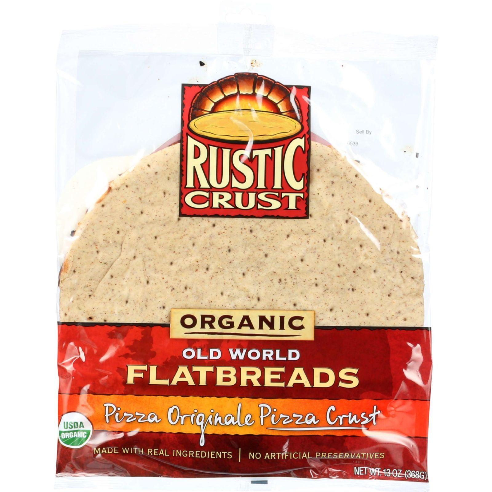 Rustic Crust Pizza Crust - Organic - Flatbreads - Pizza Originale - 13 oz - case of 8