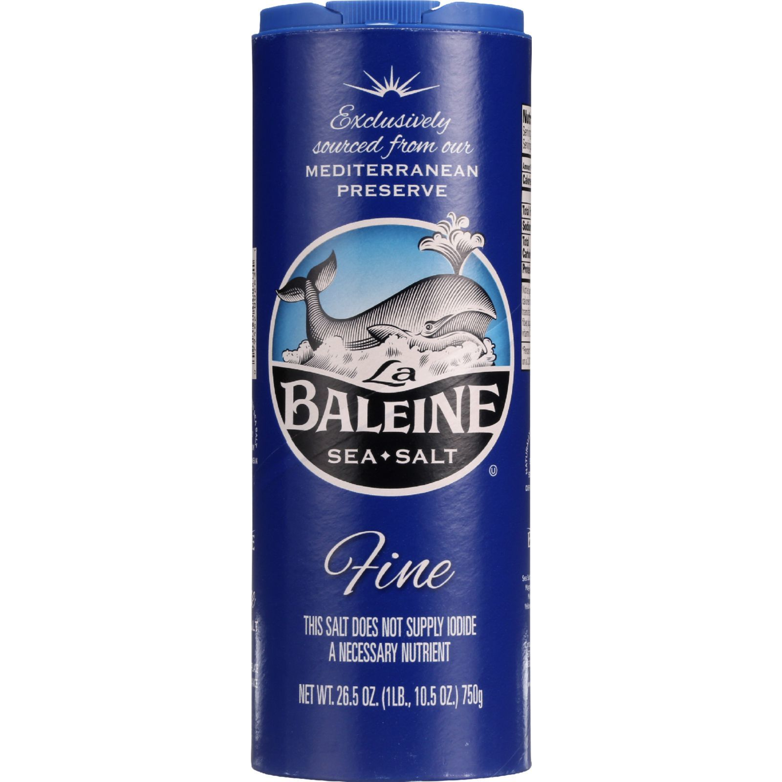 La Baleine Sea Salt Sea Salt - Fine - 26.5 oz - case of 12