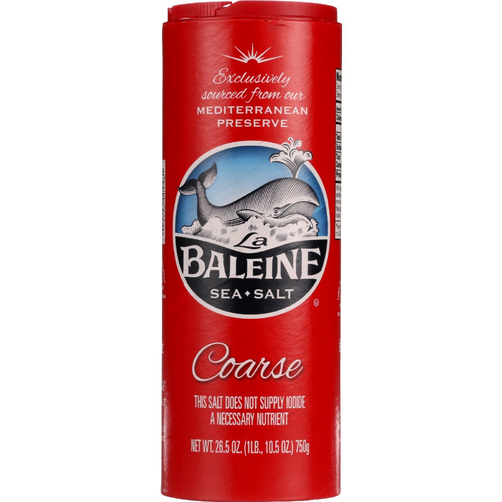 La Baleine Sea Salt Sea Salt - Coarse - 26.5 oz - case of 12