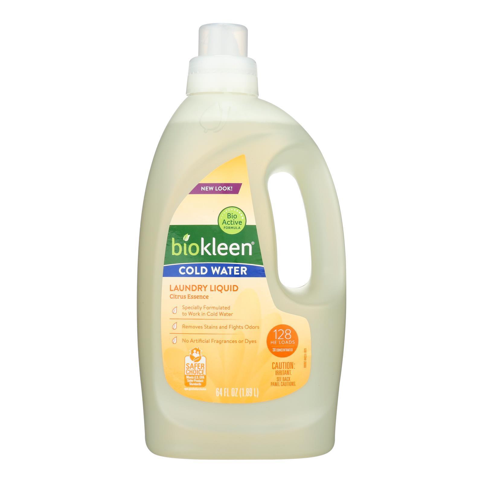 Biokleen Laundry Liquid - Cold Water Formula - 64 oz