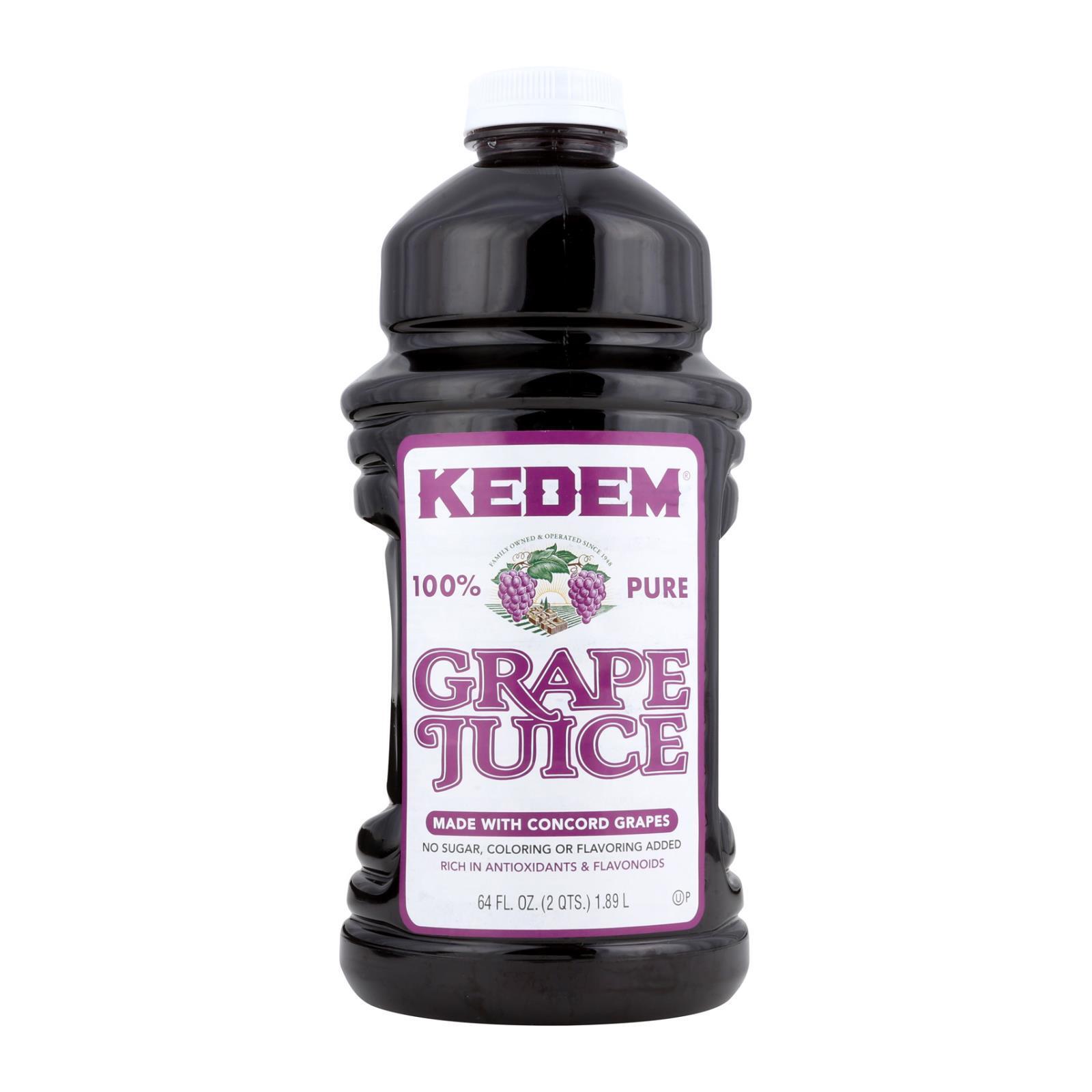 Kedem Grape Juice - Case of 8 - 64 Fl oz.