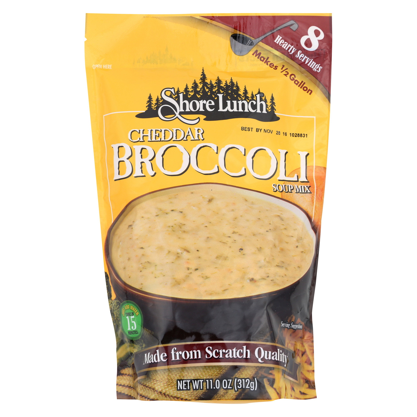 Shore Lunch Cheddar Broccoli Soup Mix - Case of 6 - 11 oz.