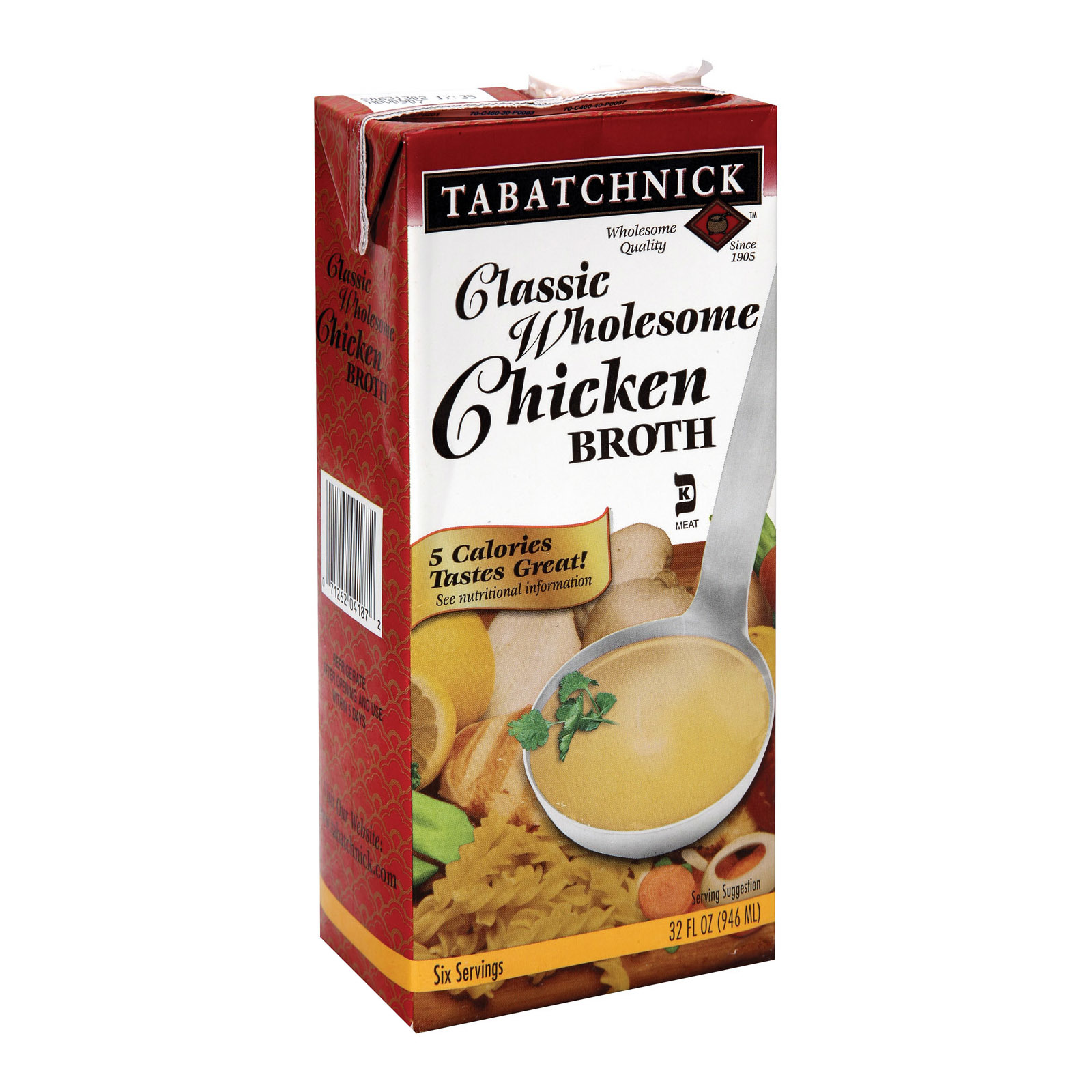 Tabatchnick Classic Wholesome Chicken Broth - Case of 12 - 32 Fl oz.