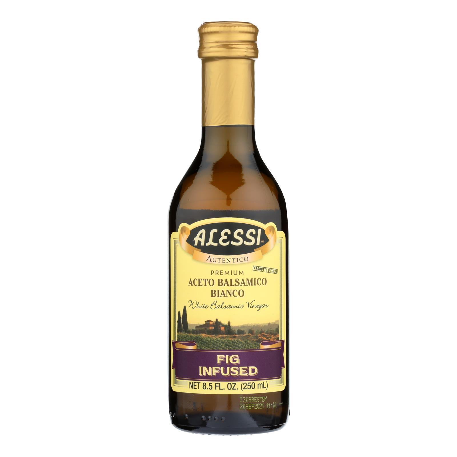 Alessi Fig Infused Vinegar - White Balsamic - Case of 6 - 8.5 FL oz.