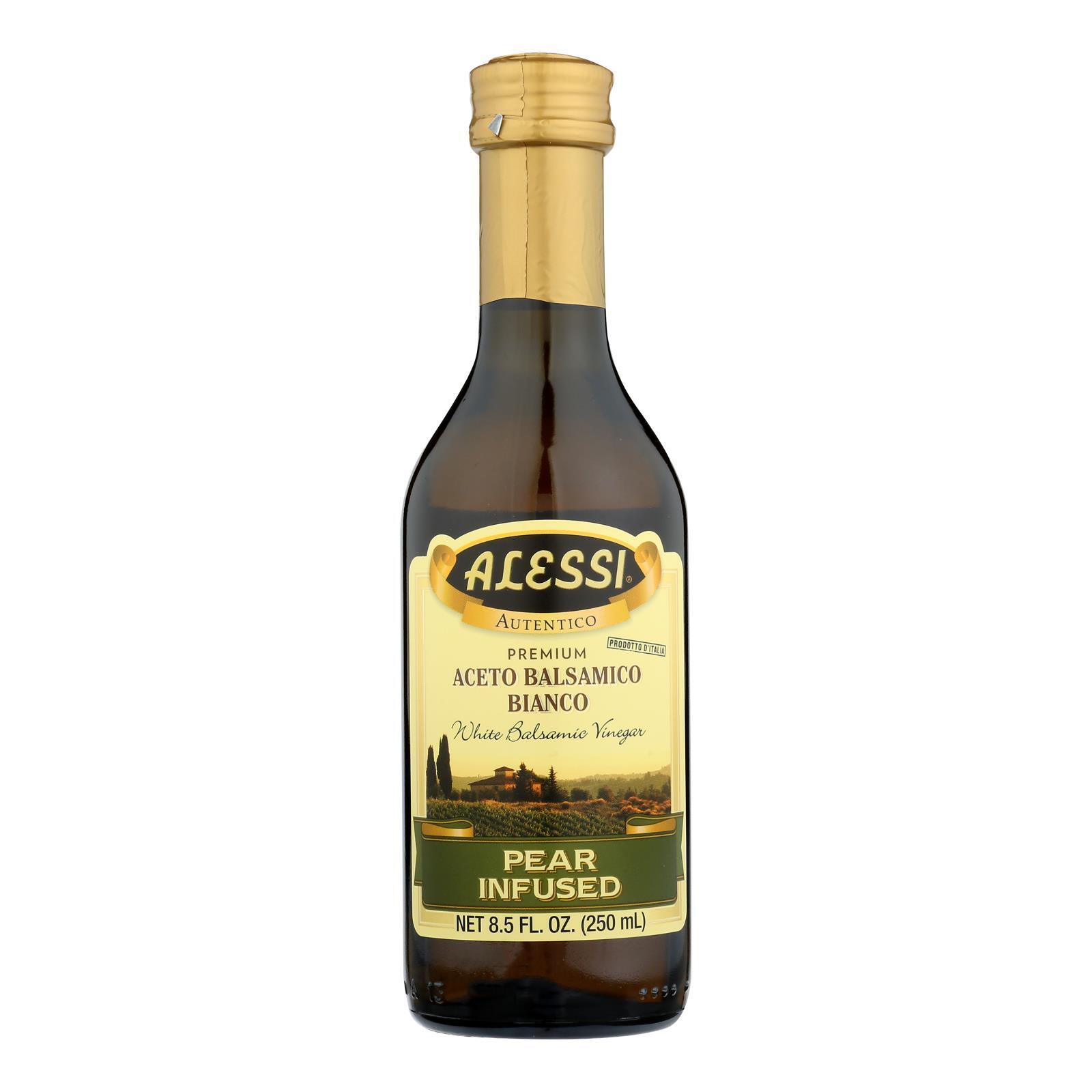 Alessi Pear Infused Vinegar - White Balsamic - Case of 6 - 8.5 FL oz.