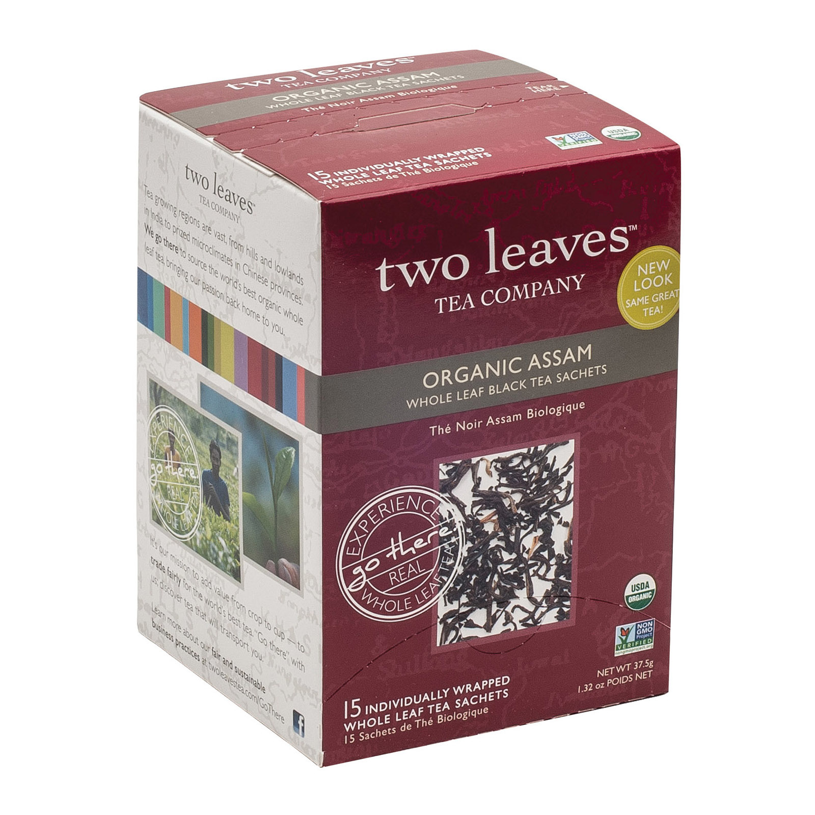 Two Leaves and A Bud Black Tea - Organic Assam - Case of 6 - 15 Bags