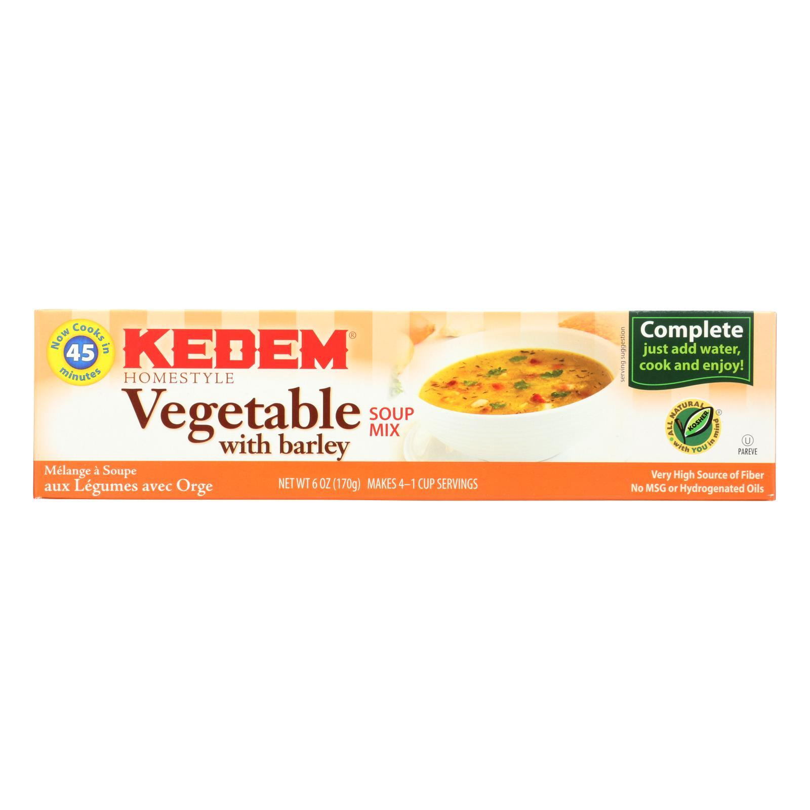 Kedem Vegetable Soup Mix - Case of 24 - 6 oz.