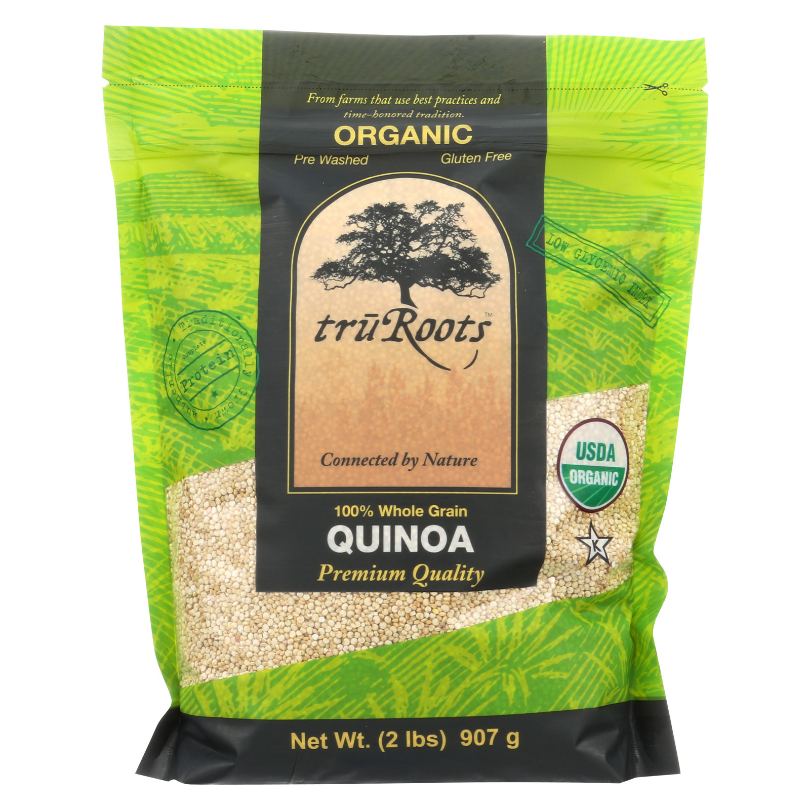 Truroots Organic Quinoa - Whole Grain - Case of 6 - 32 oz.