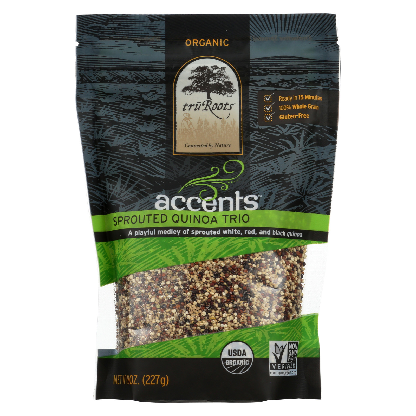 Truroots Organic Trio Quinoa - Accents Sprouted - Case of 6 - 8 oz.
