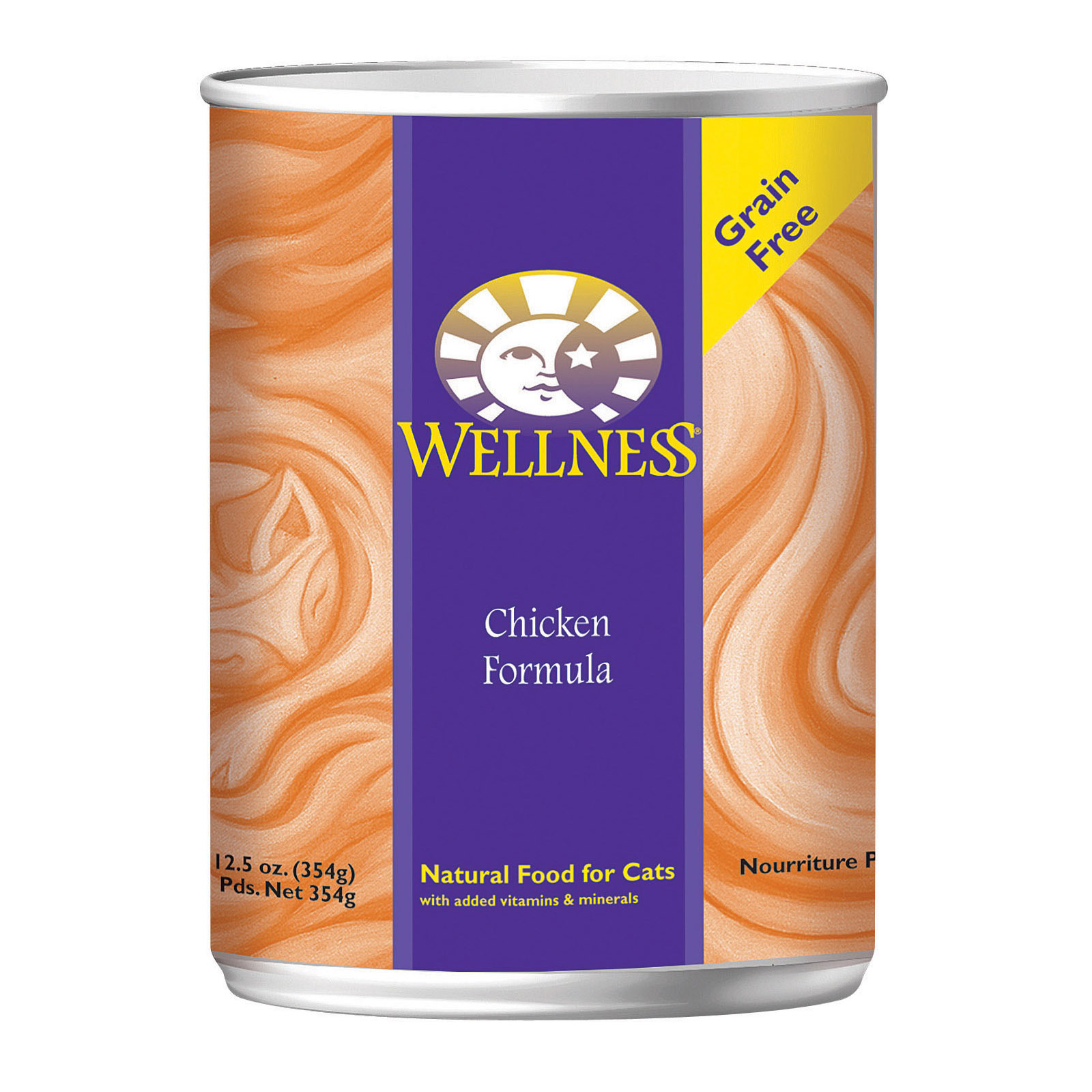 Wellness Pet Products Cat Food - Chicken Recipe - Case of 12 - 12.5 oz.