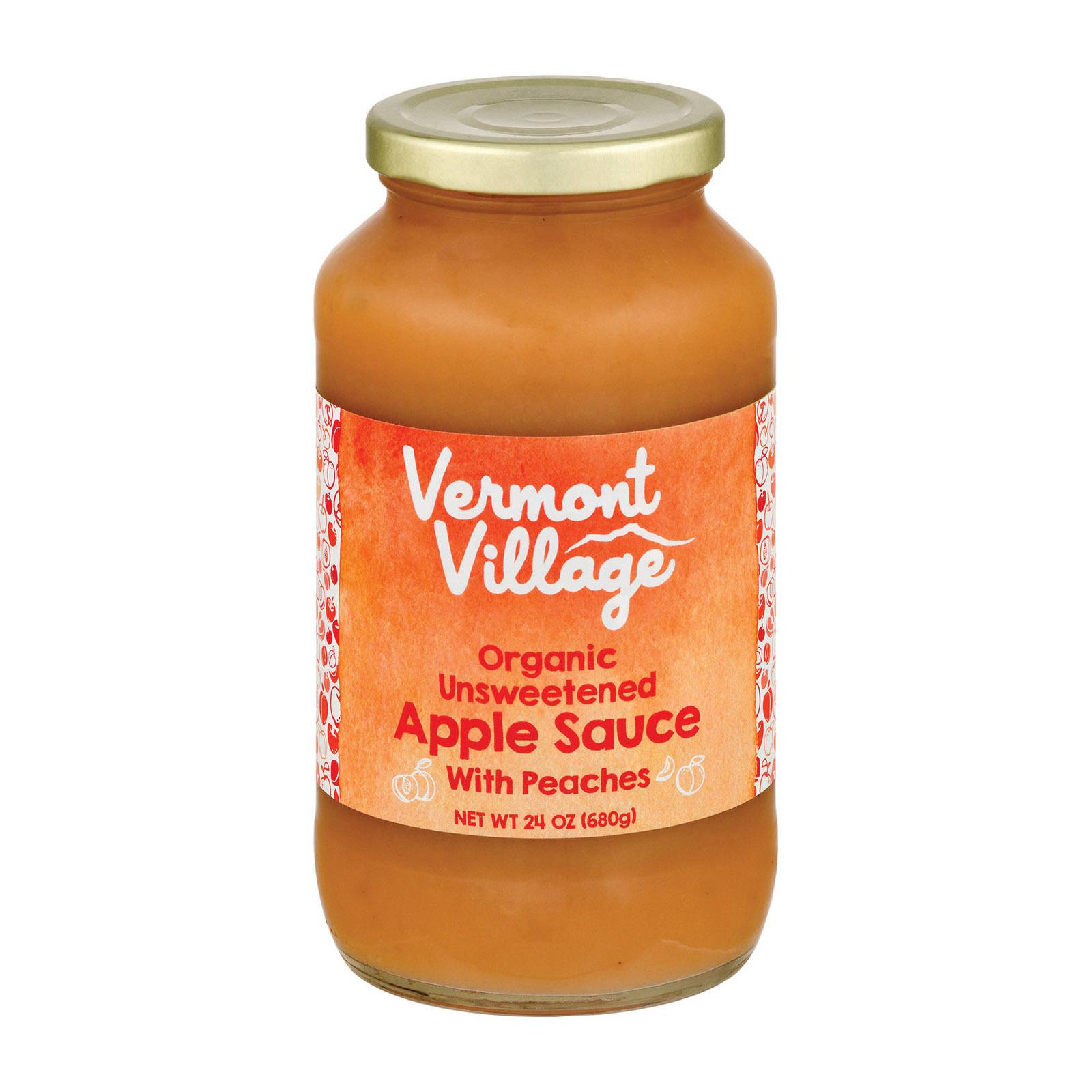 Vermont Village Organic Applesauce - Peach - Case of 6 - 24 oz.