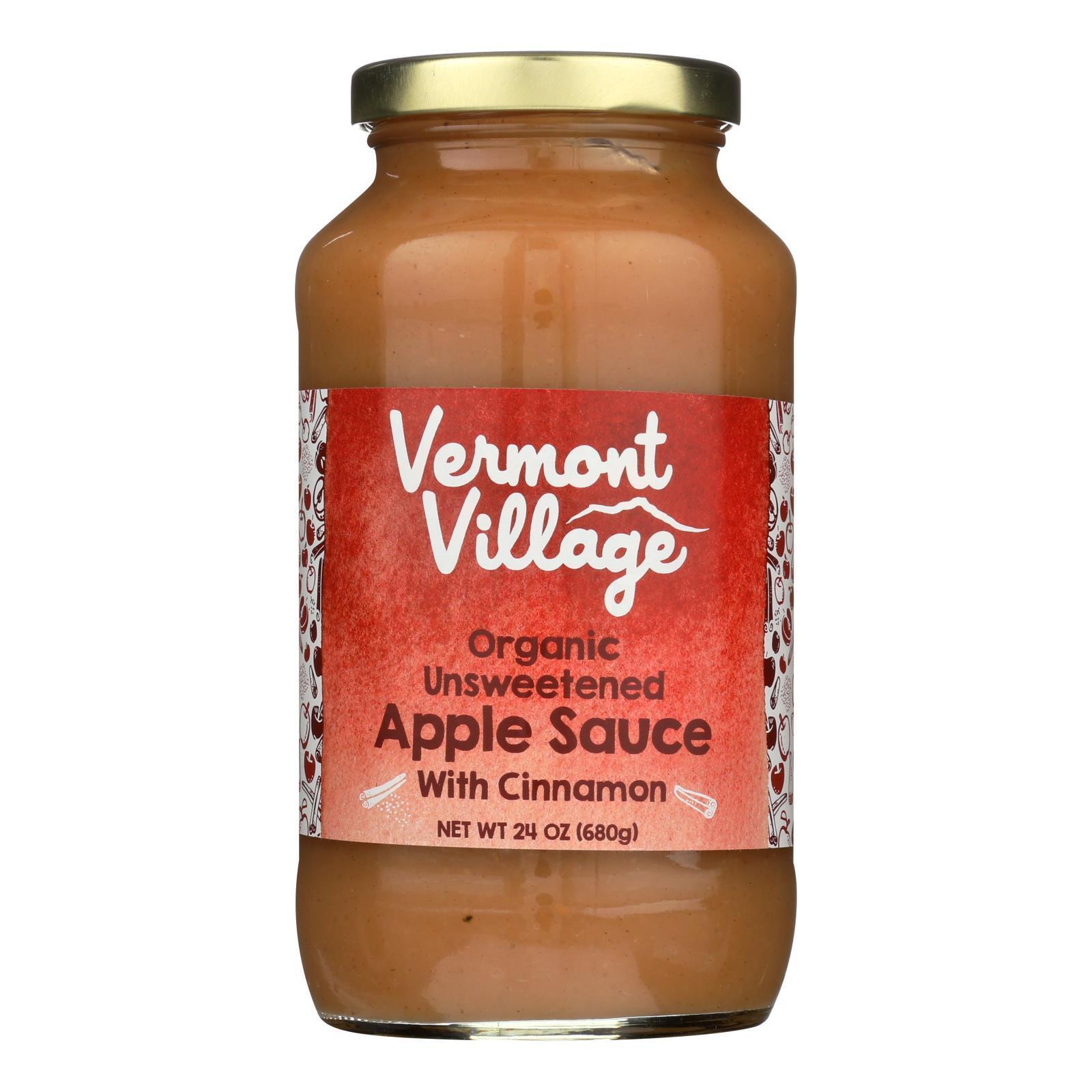 Vermont Village Organic Applesauce - Cinnamon - Case of 6 - 24 oz.
