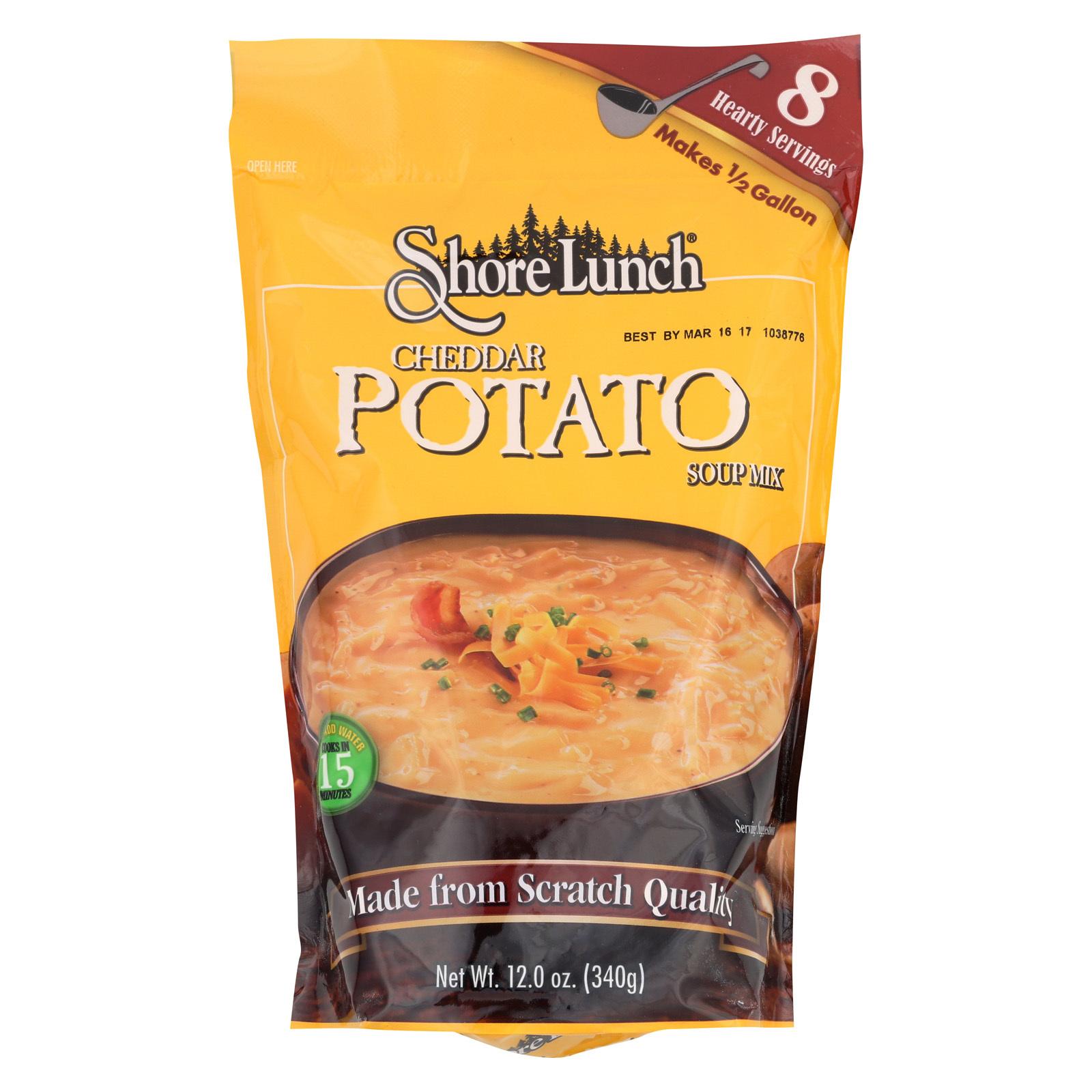 Shore Lunch Cheddar Potato Soup Mix - Case of 6 - 12 oz.