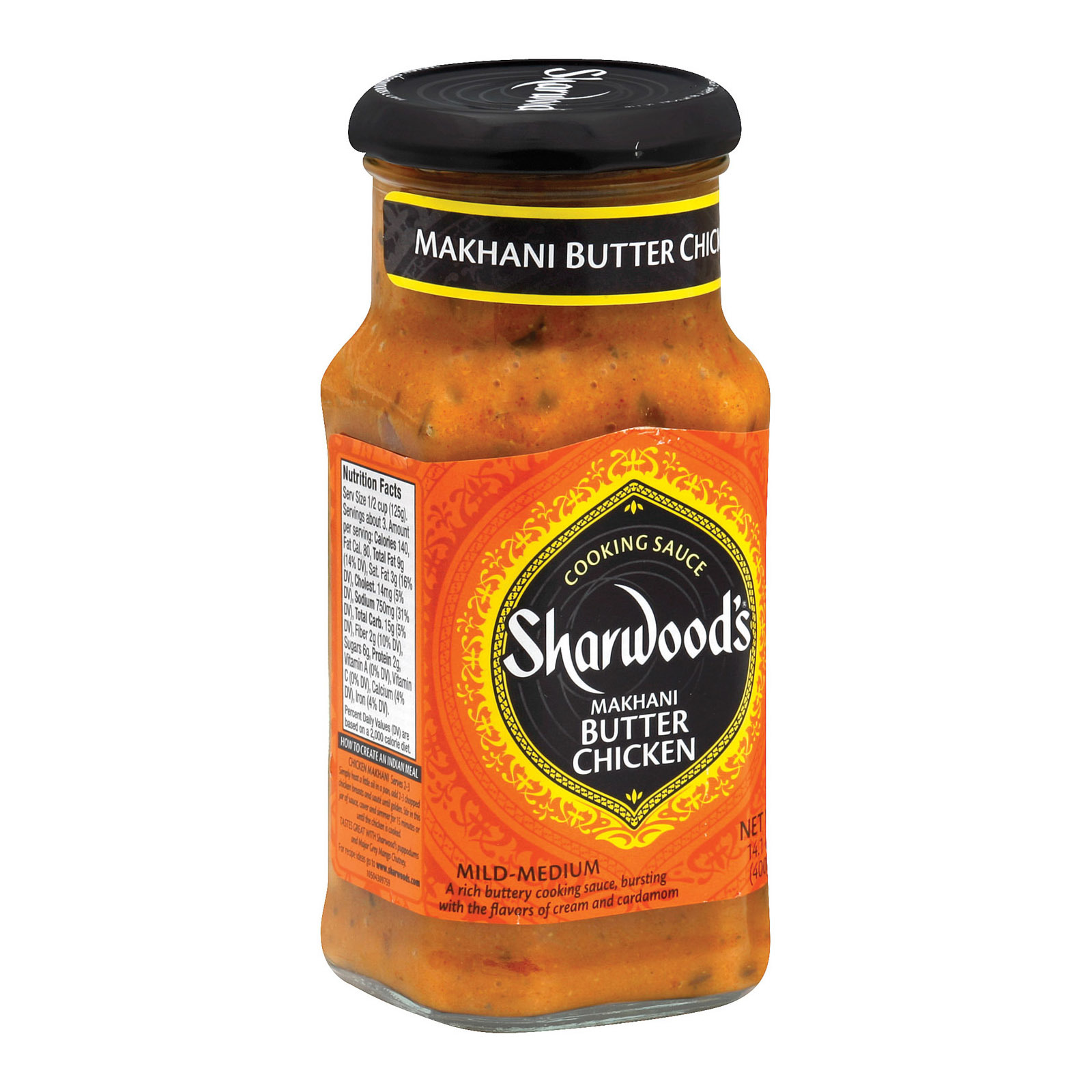 Sharwood Butter Chicken Cooking Sauce - Case of 6 - 14.1 Fl oz.