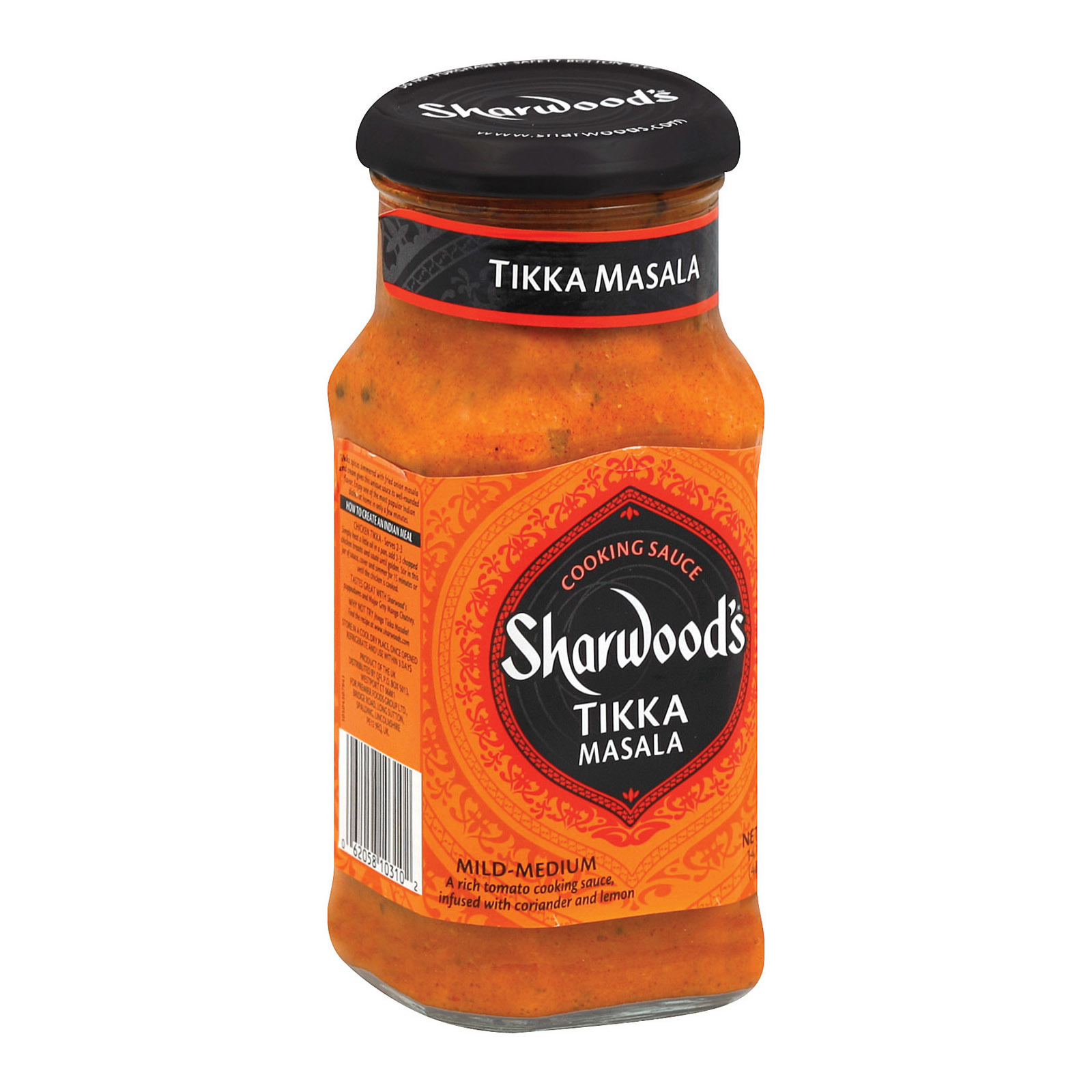 Sharwood Tikka Masala Cooking Sauce - Extra Spicy - Case of 6 - 14.1 Fl oz.