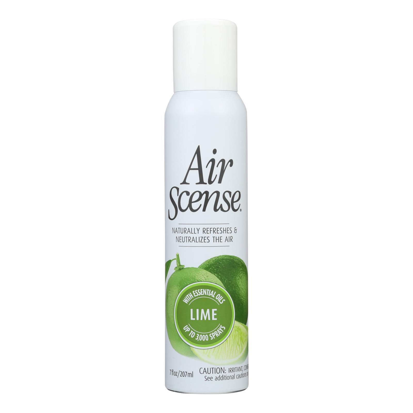 Air Scense Air Freshener - Lime - Case of 4 - 7 oz