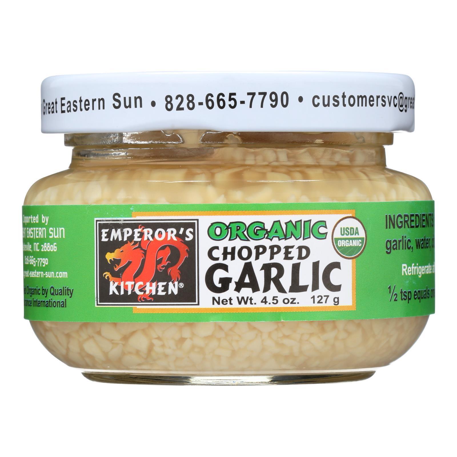 Emperors Kitchen Garlic - Organic - Chopped - 4.5 oz - case of 12
