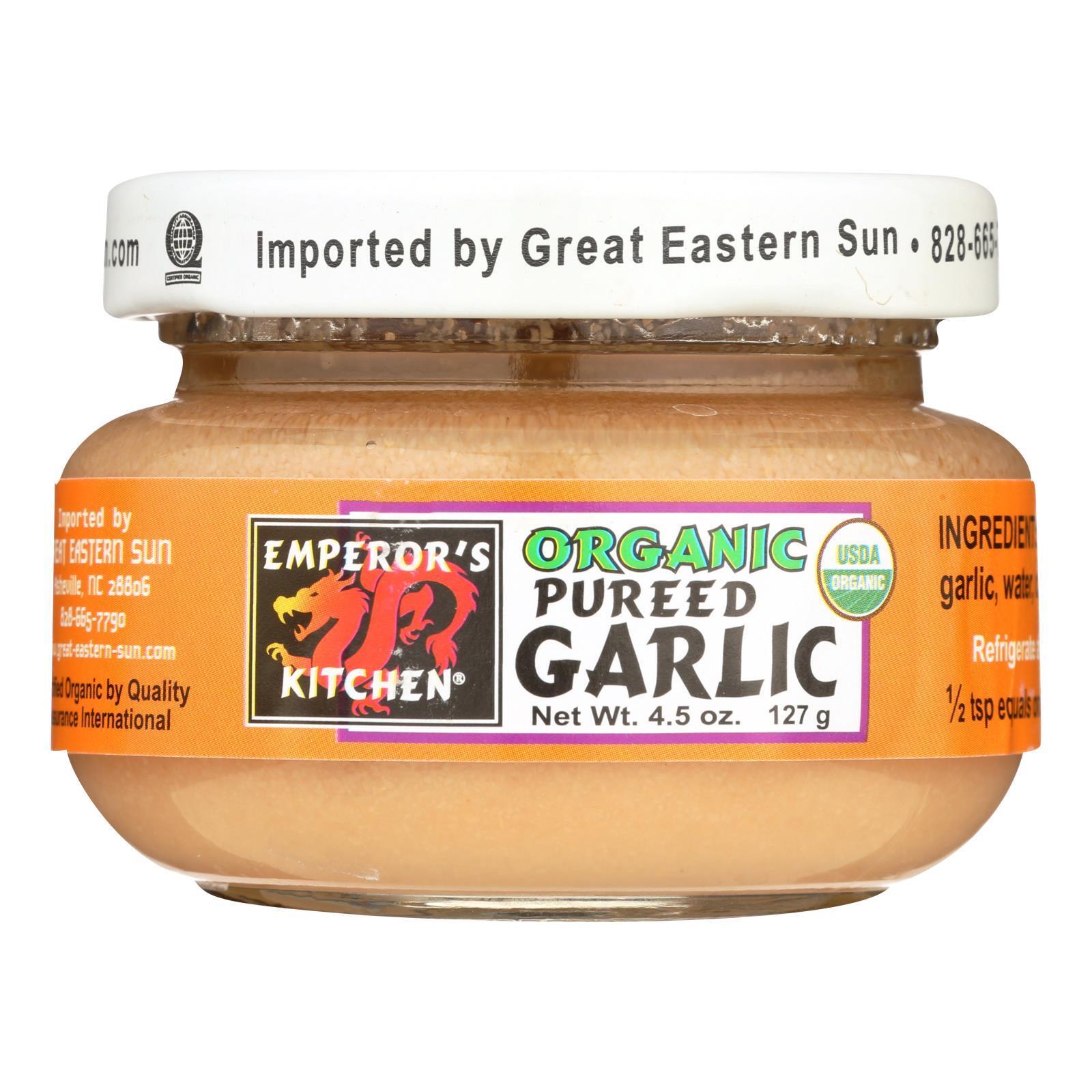Emperor's Kitchen Organic Garlic - Pureed - Case of 12 - 4.5 oz.