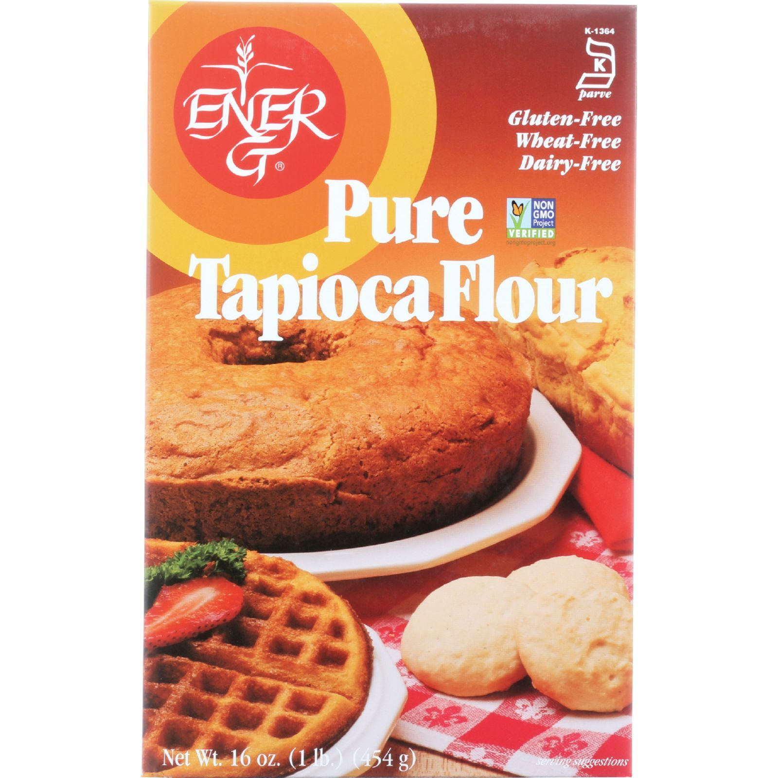 Ener-G Foods Flour - Tapioca - Pure - Wheat Free - 16 oz - case of 12