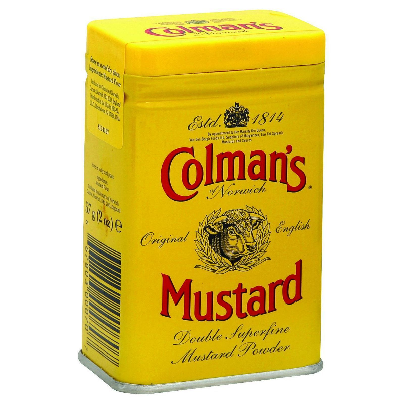 Colmans Dry Mustard Powder - 2 oz - Case of 12